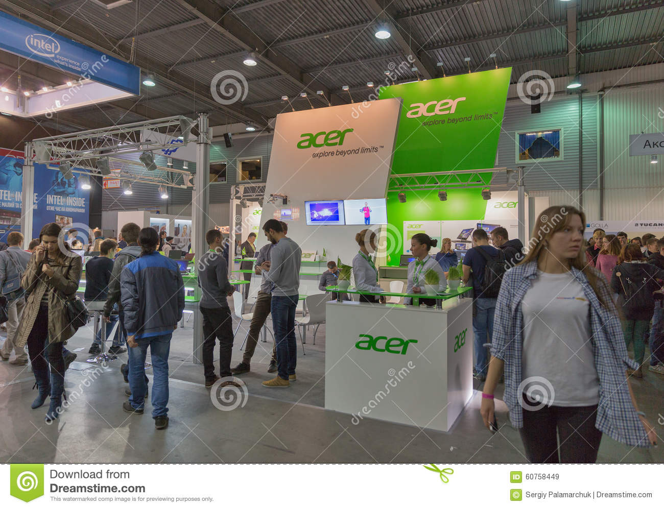 Exhibition Booth Clipart : Acer company booth at cee the largest electronics