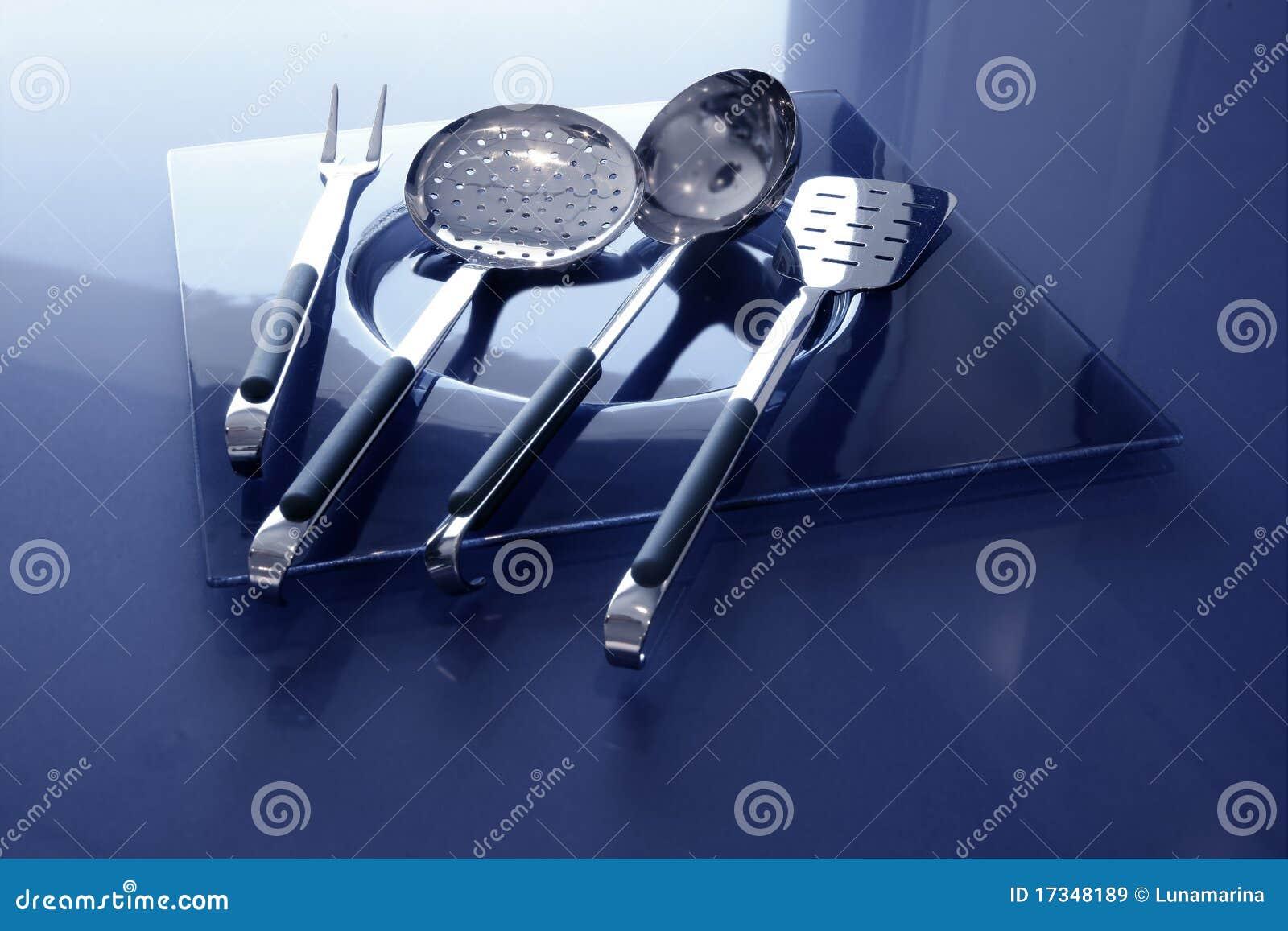 Acero inoxidable de los utensilios de la cocina de los for Utensilios cocina acero inoxidable