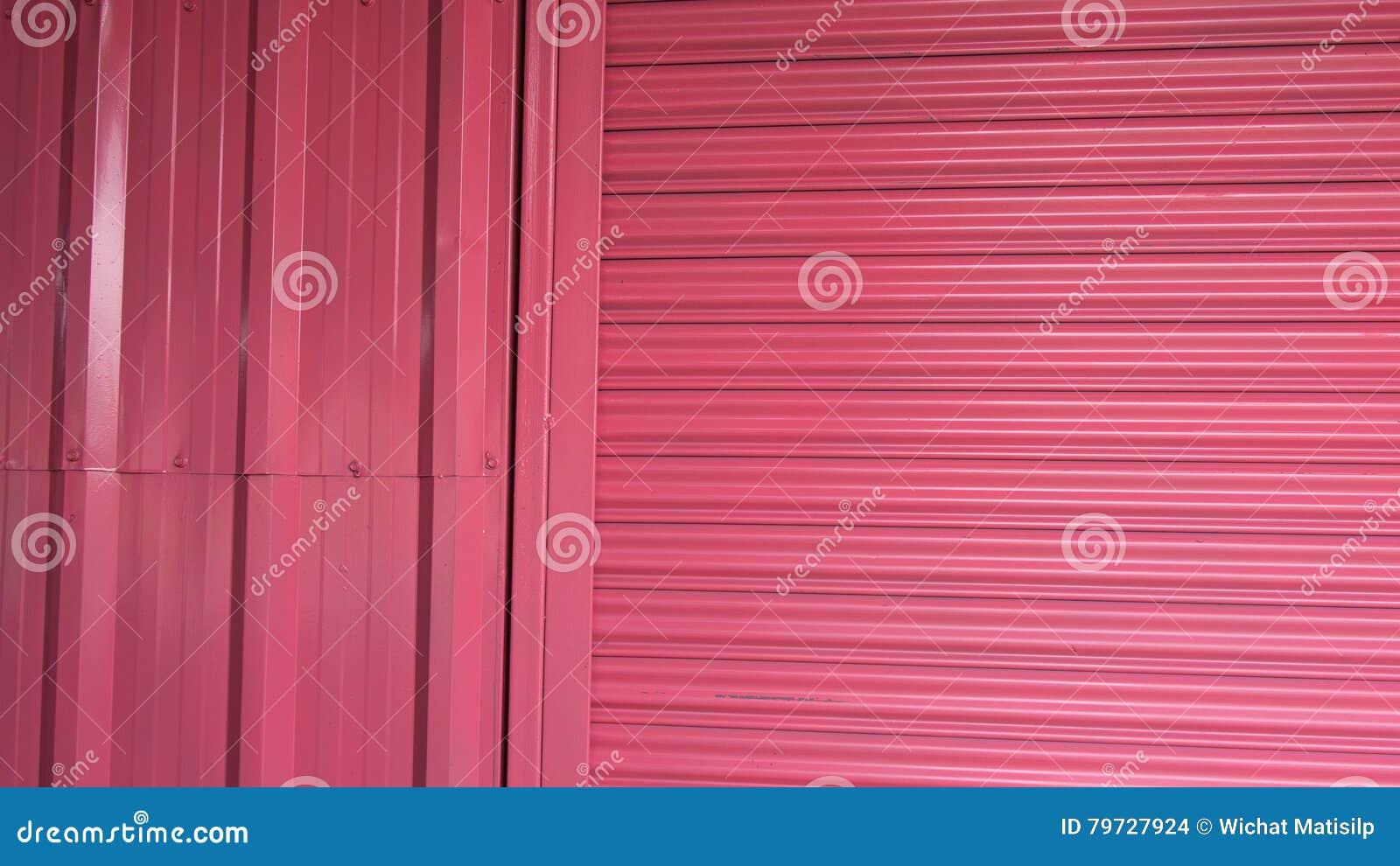 Acero rosado de la cortina