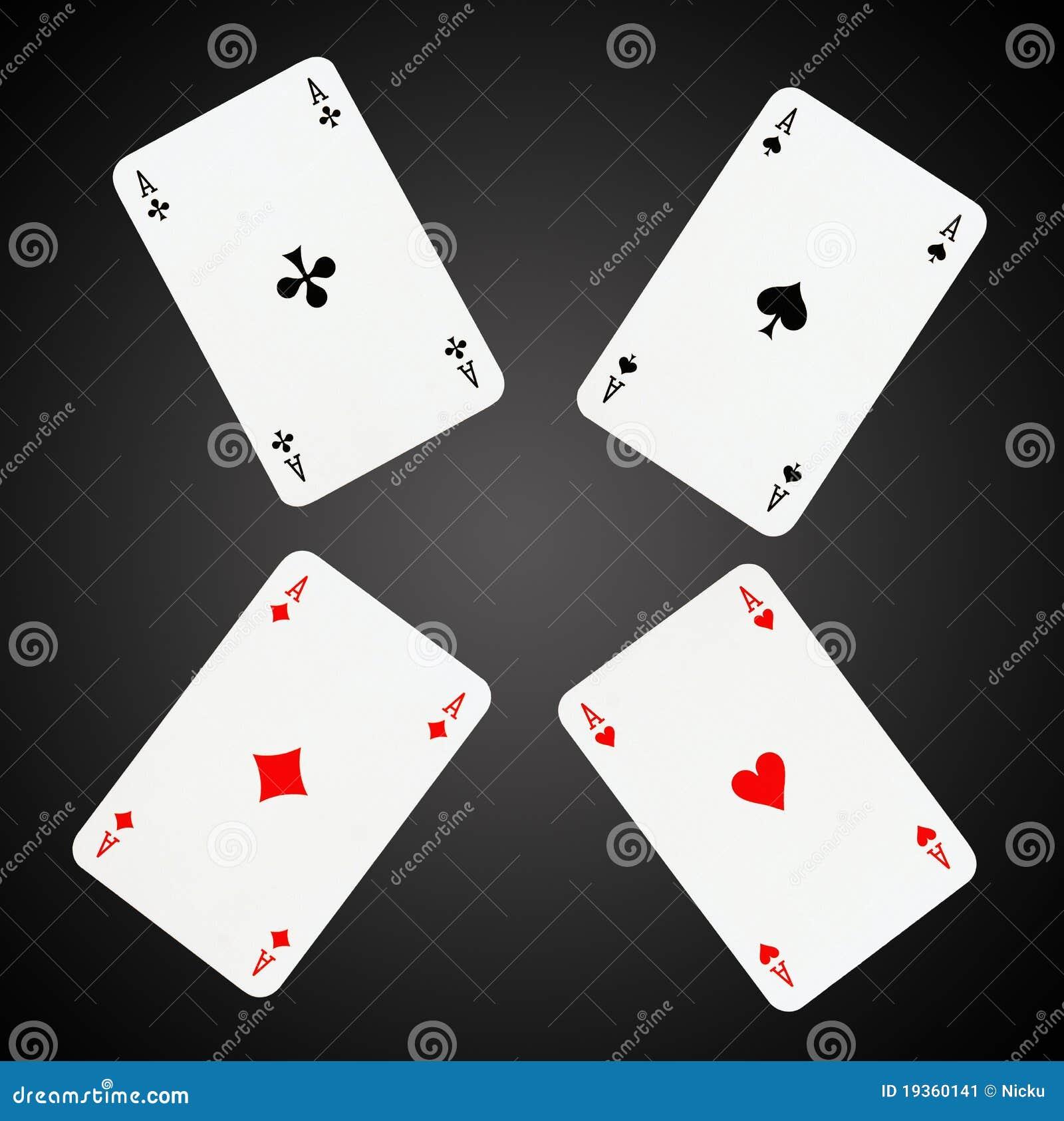 Aces cartões de jogo