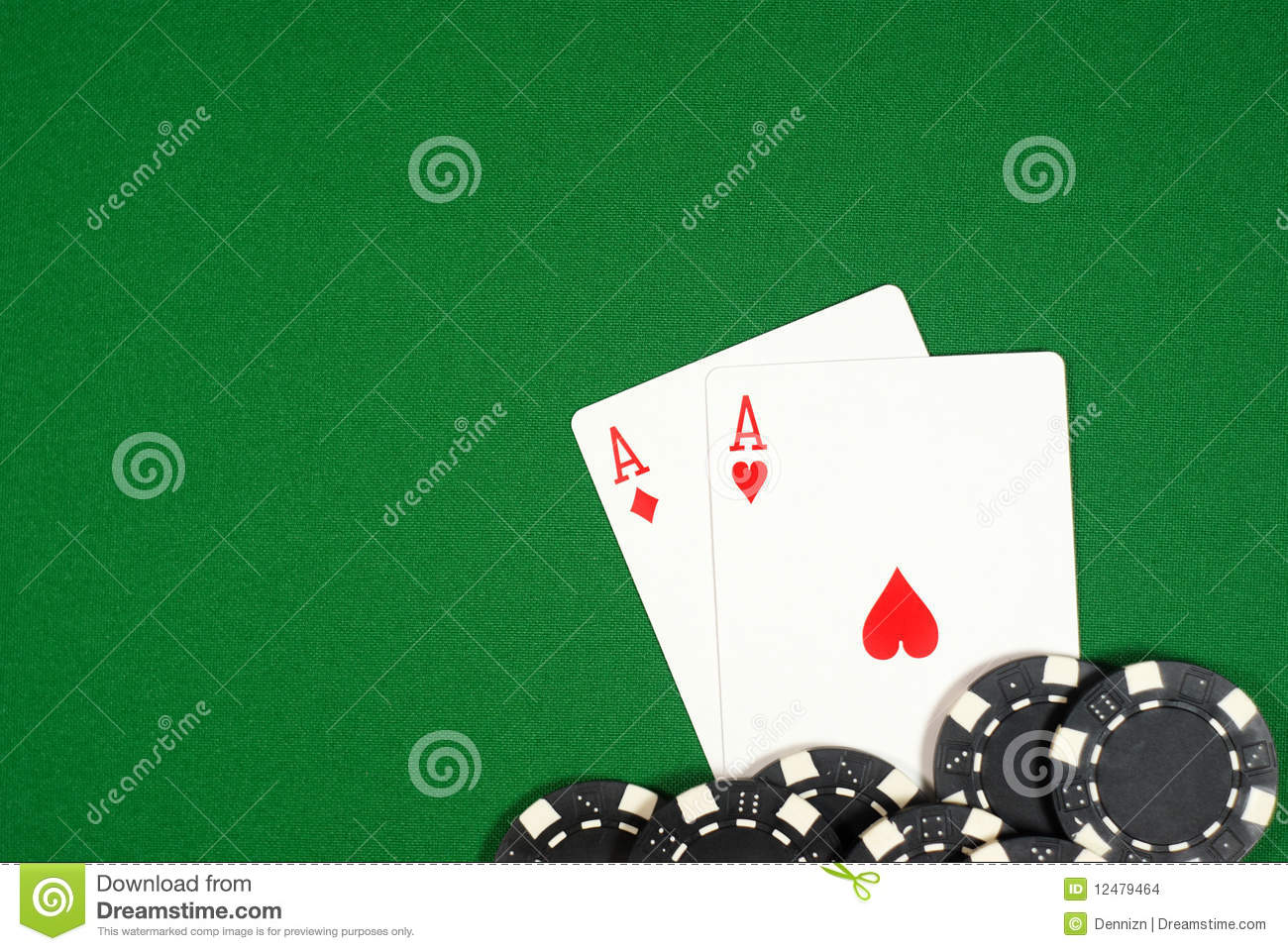 Aces with chips