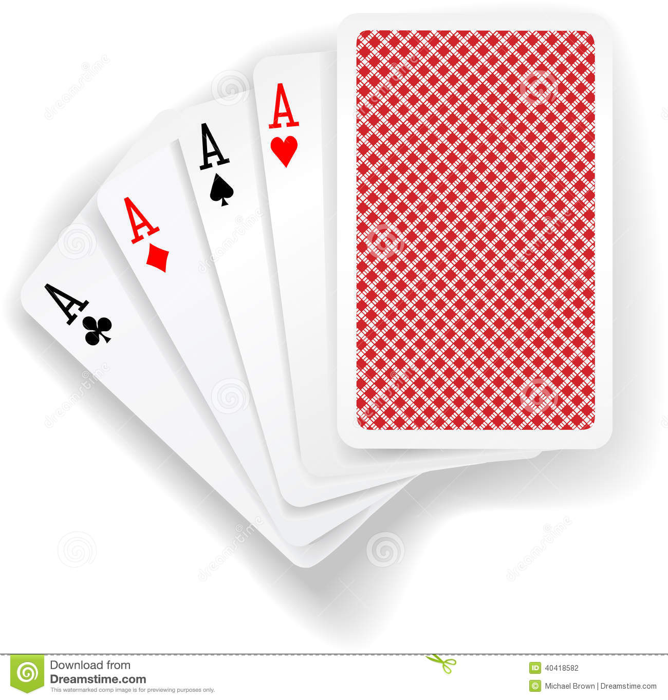four aces in card game