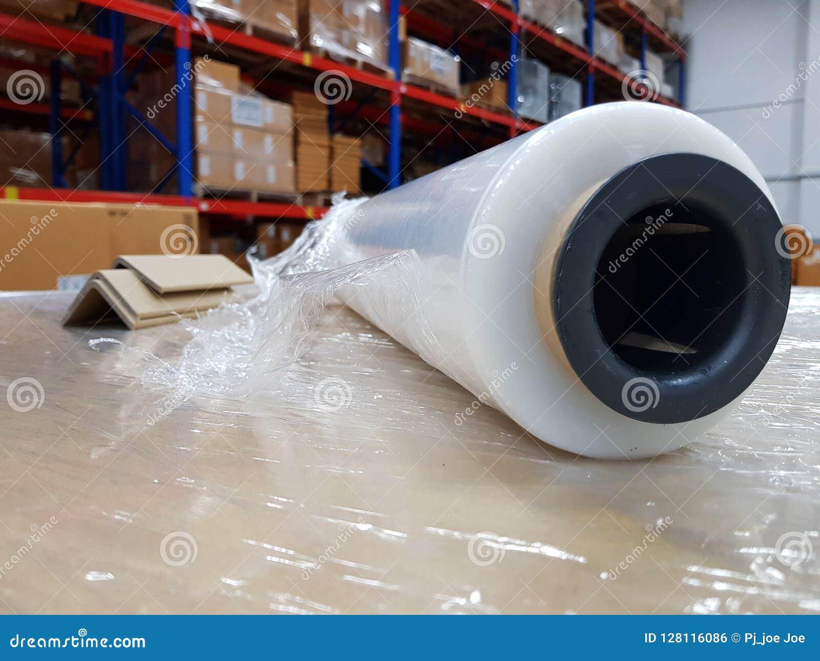 Acessórios da embalagem no local de trabalho da indústria, envoltório Indust do estiramento