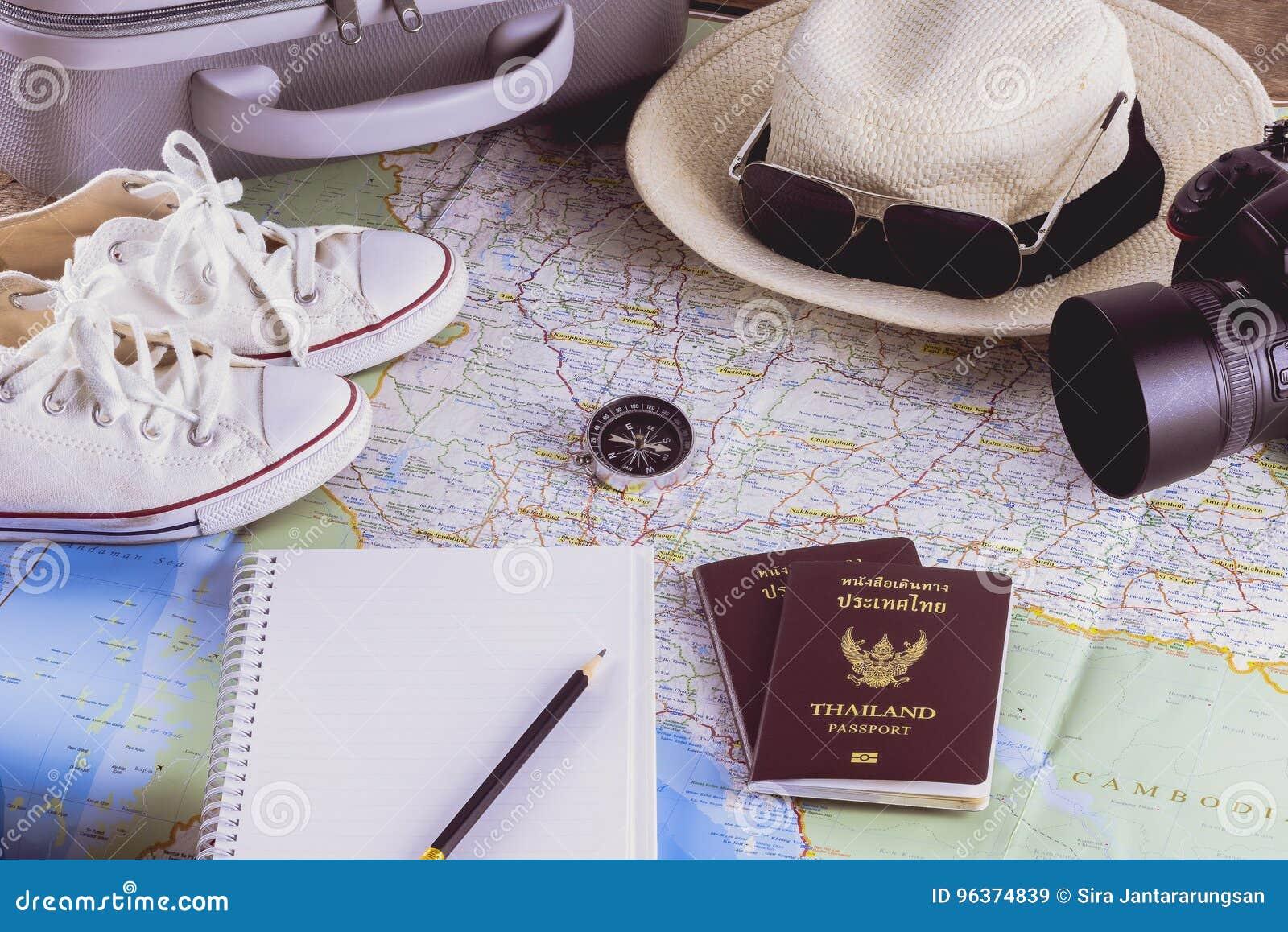 Acessórios do curso para a viagem do curso passports