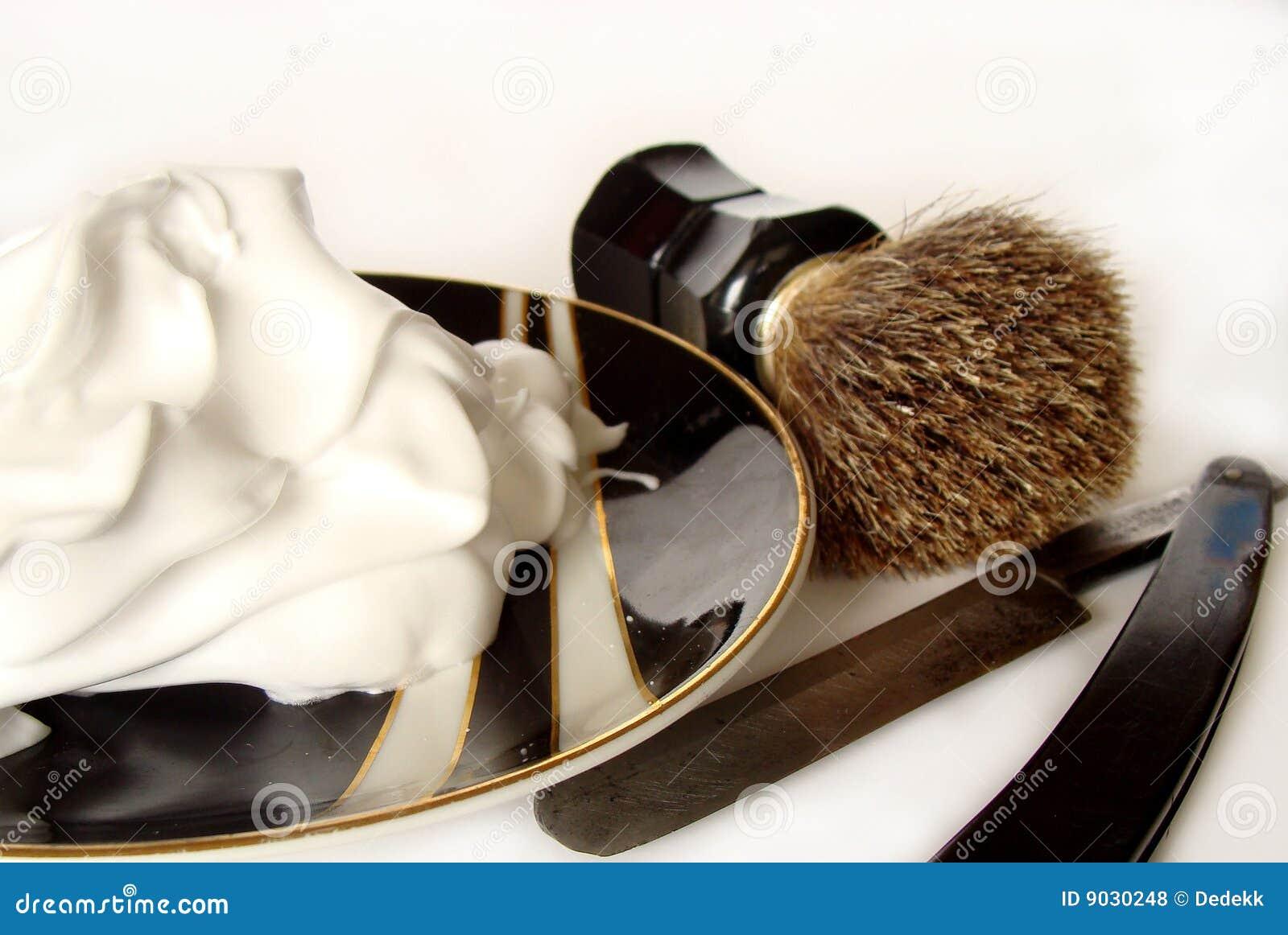 Acessórios do shave do `s do homem