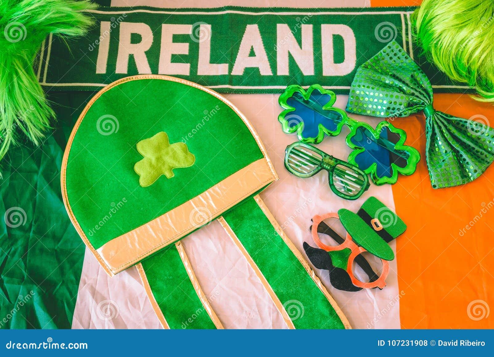 Acessórios do vestido do dia do ` s de St Patrick