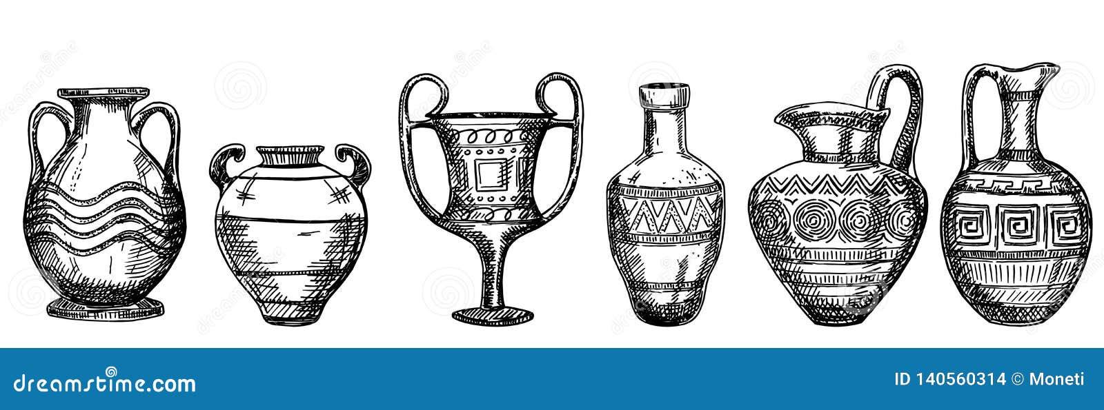 Achados Archaeological Vasos e jarros