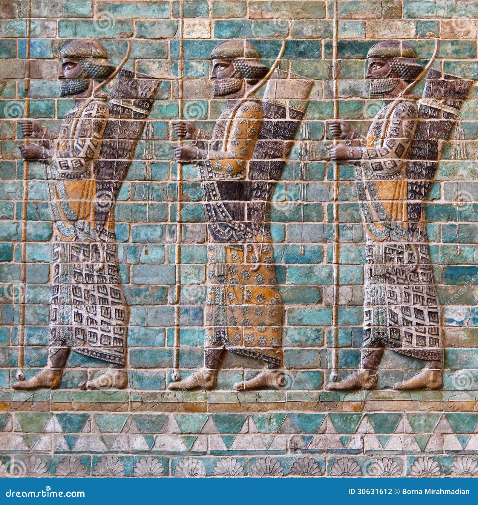 Persian Empire Darius Achaemenid Soldiers st...