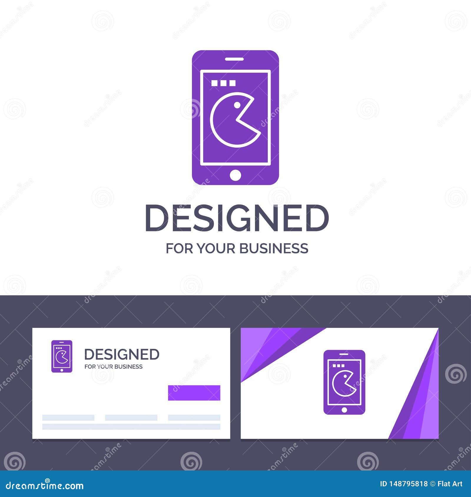 Achat de visite de calibre créatif de carte de visite professionnelle et de logo, mobile, téléphone, illustration de vecteur de m