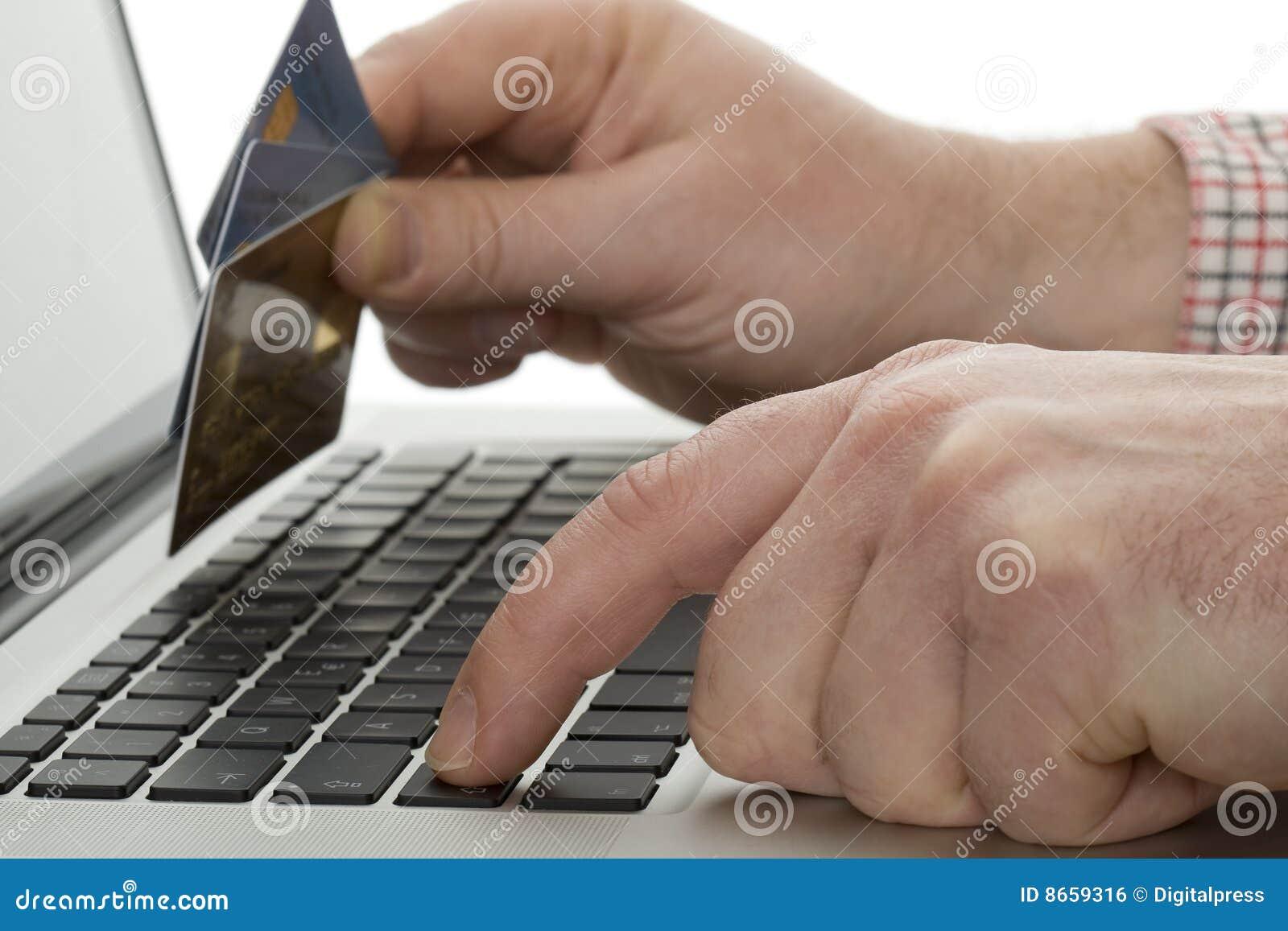 Achats en ligne avec par la carte de crédit