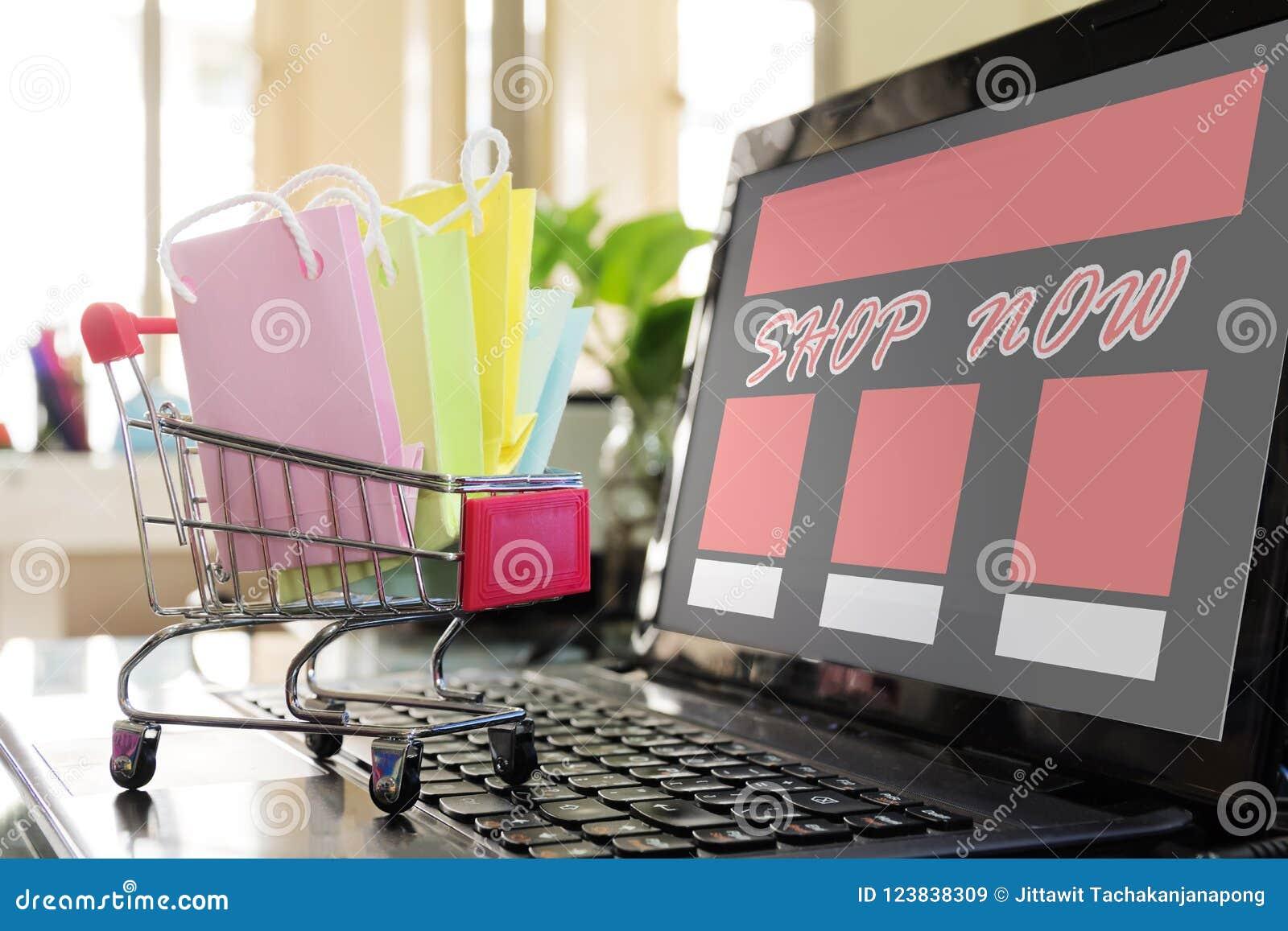 Achats en ligne de concept La boutique facile de site Web de commerce électronique a maintenant fait le franc