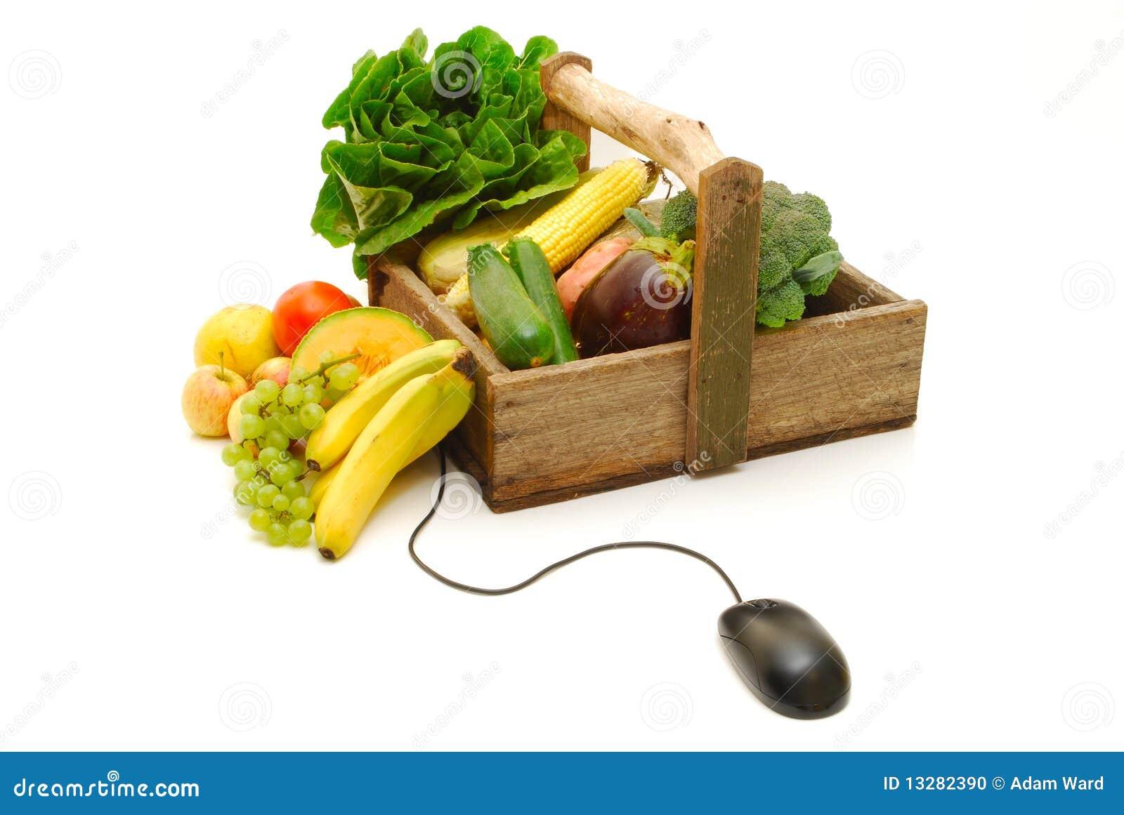 394c11655f5 Achats En Ligne De Fruits Et Légumes Photo stock - Image du mûr ...