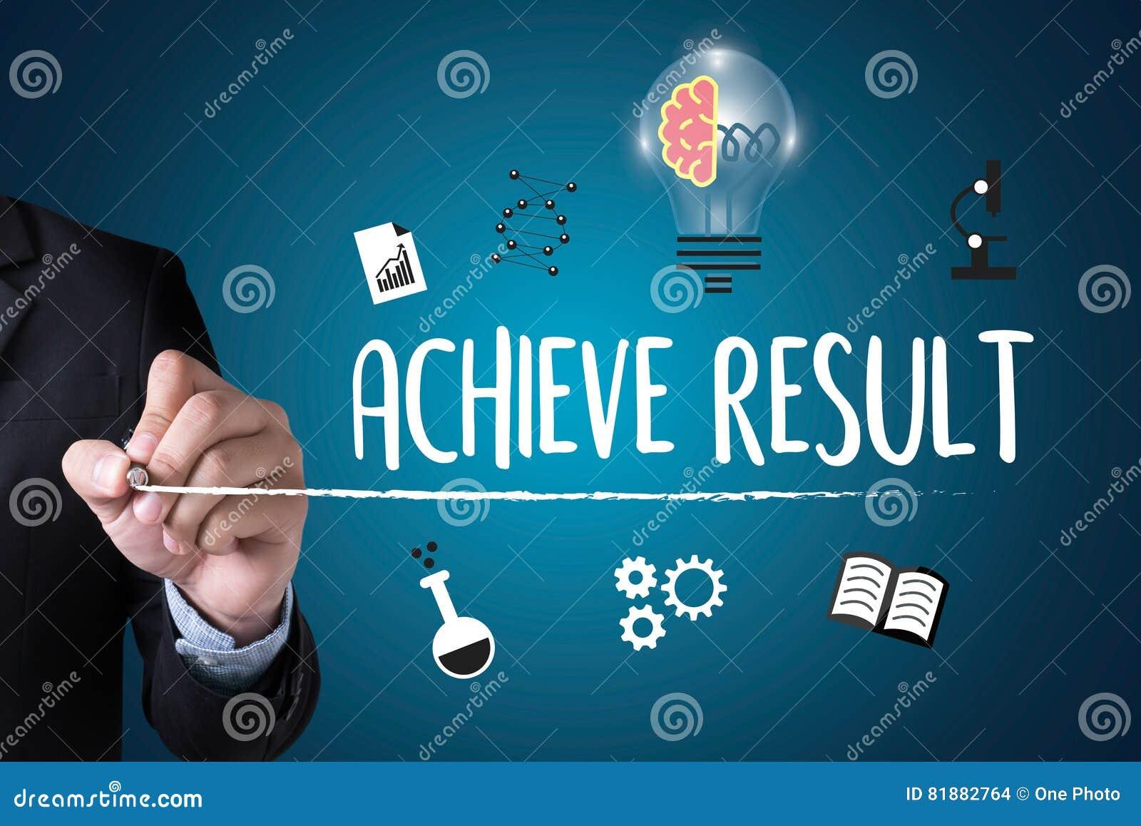 ACHIEVE RESULT , Results Compass , Businessman ACHIEVE ...