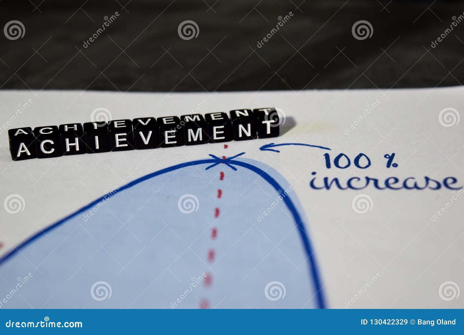 Achievement on wooden blocks. Goal Target Success Accomplishment Concept