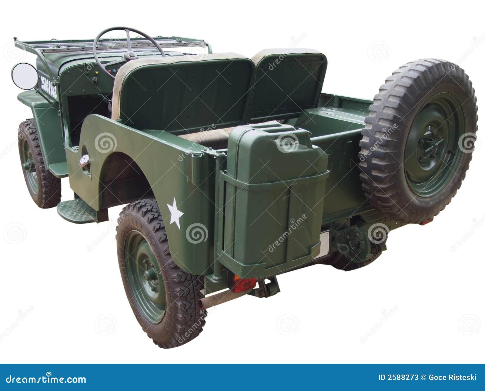 Achtereind van jeep