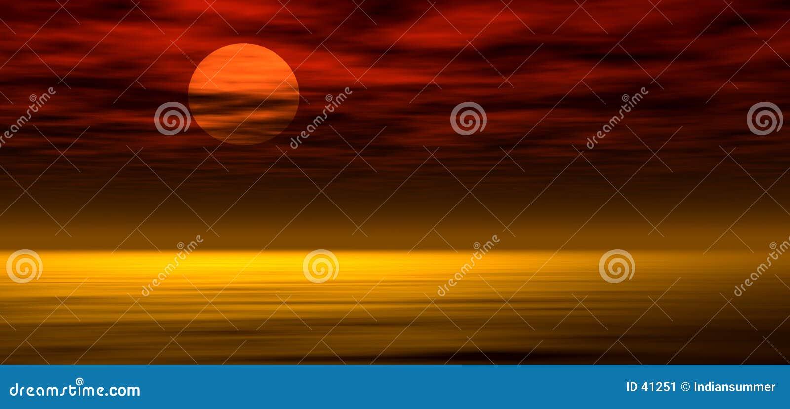 Achtergrond 2 van de zonsondergang