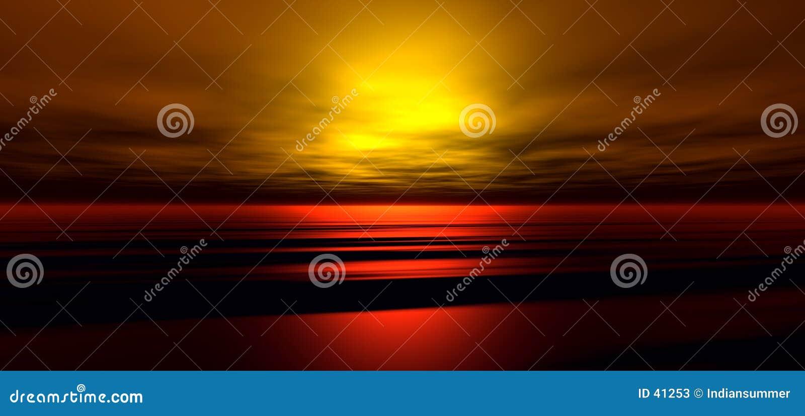 Achtergrond 3 van de zonsondergang