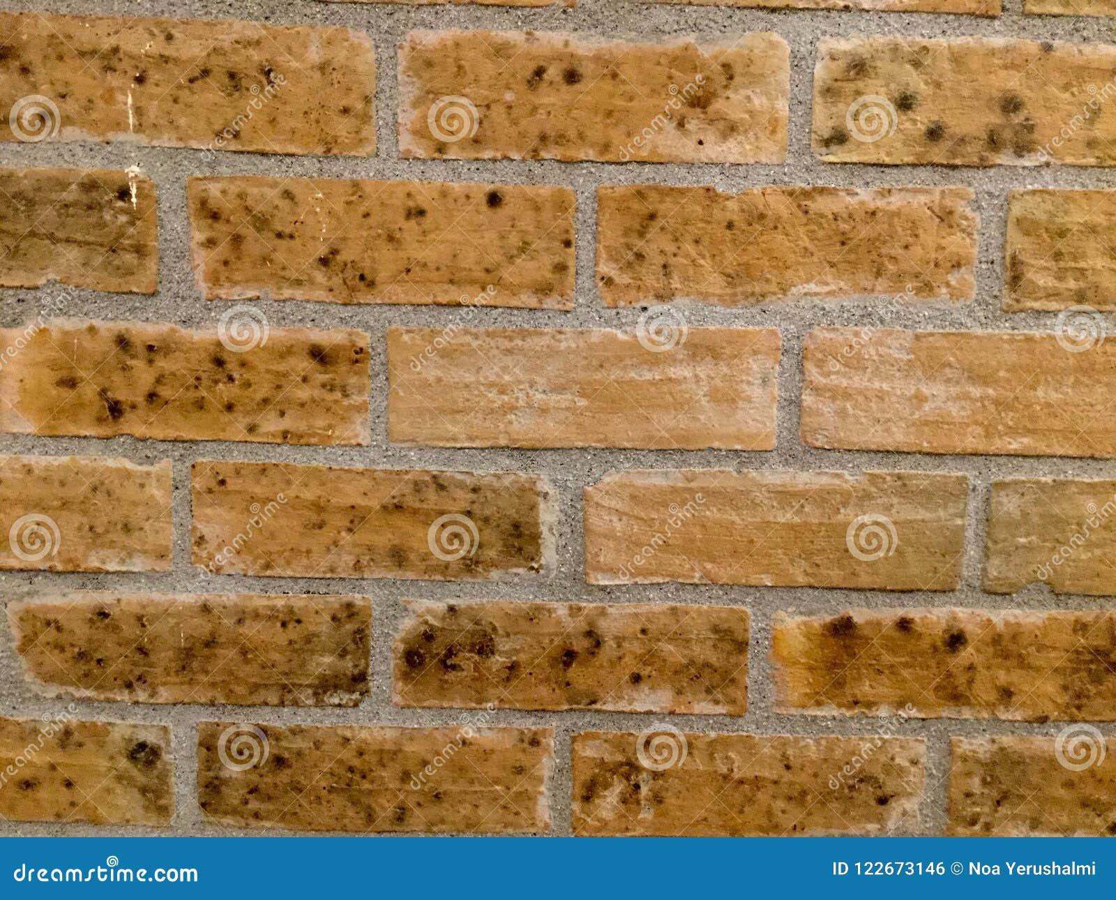 Achtergrond Bakstenen muur bruin