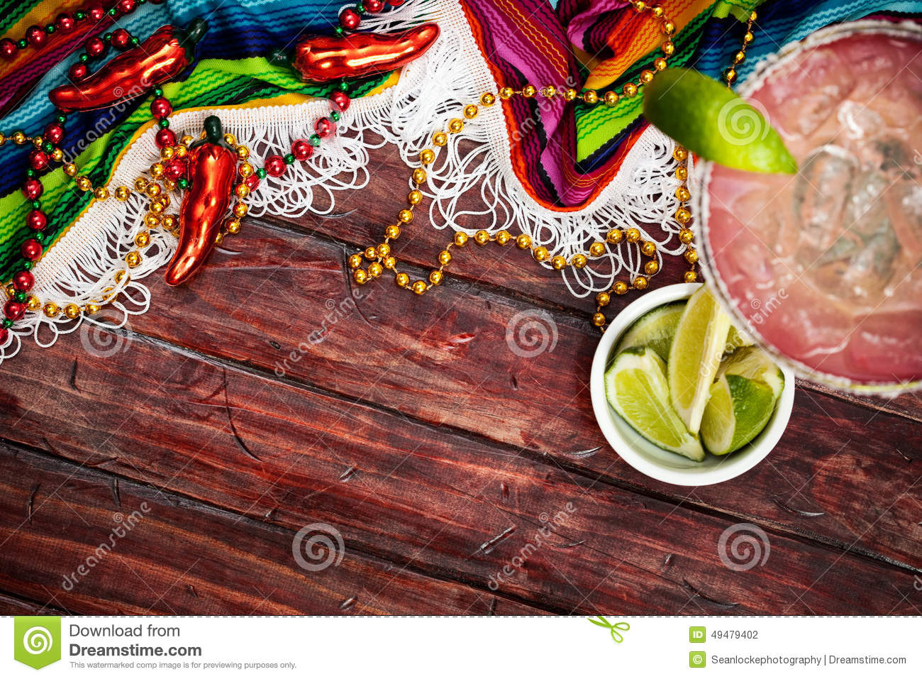 Achtergrond Cinco De Mayo Celebration With Margarita Stock Foto