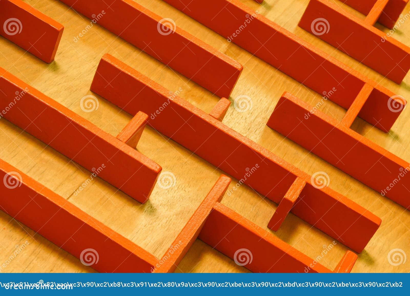 Achtergrond - een labyrint