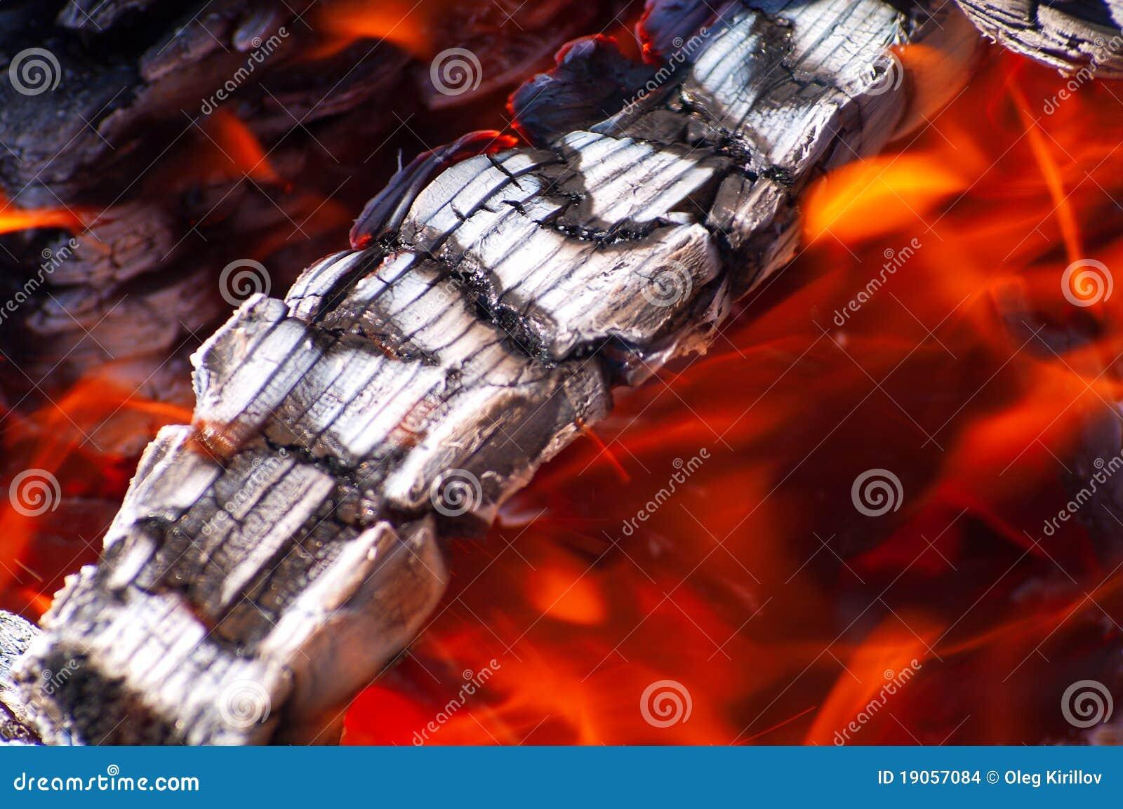 Achtergrond met brand