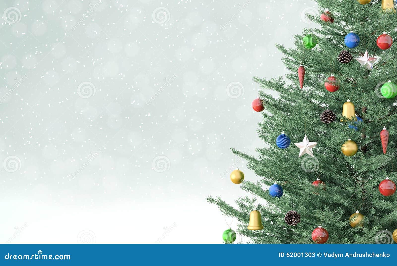 Achtergrond met Kerstmisboom het 3d teruggeven