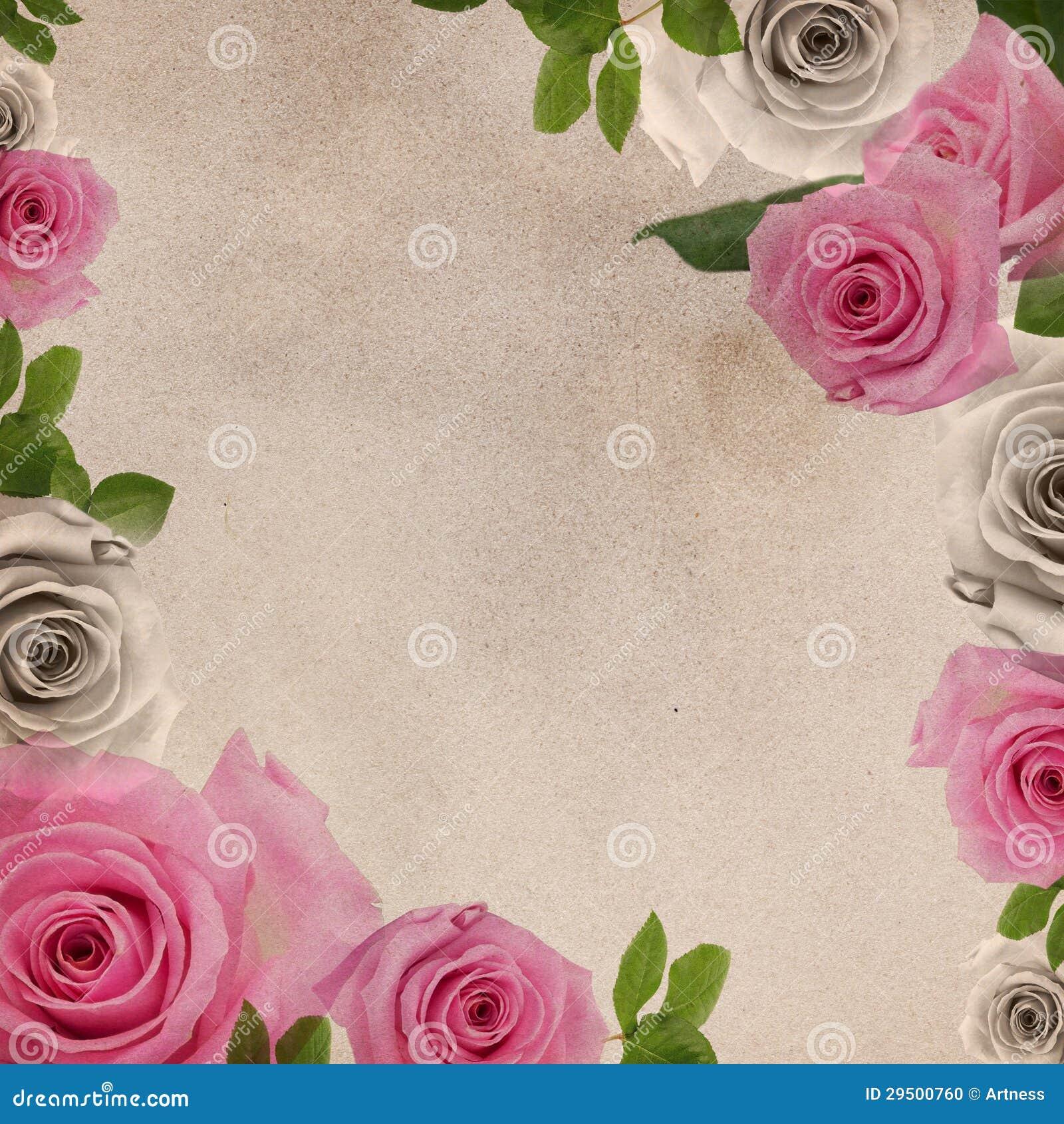 Achtergrond met rozen
