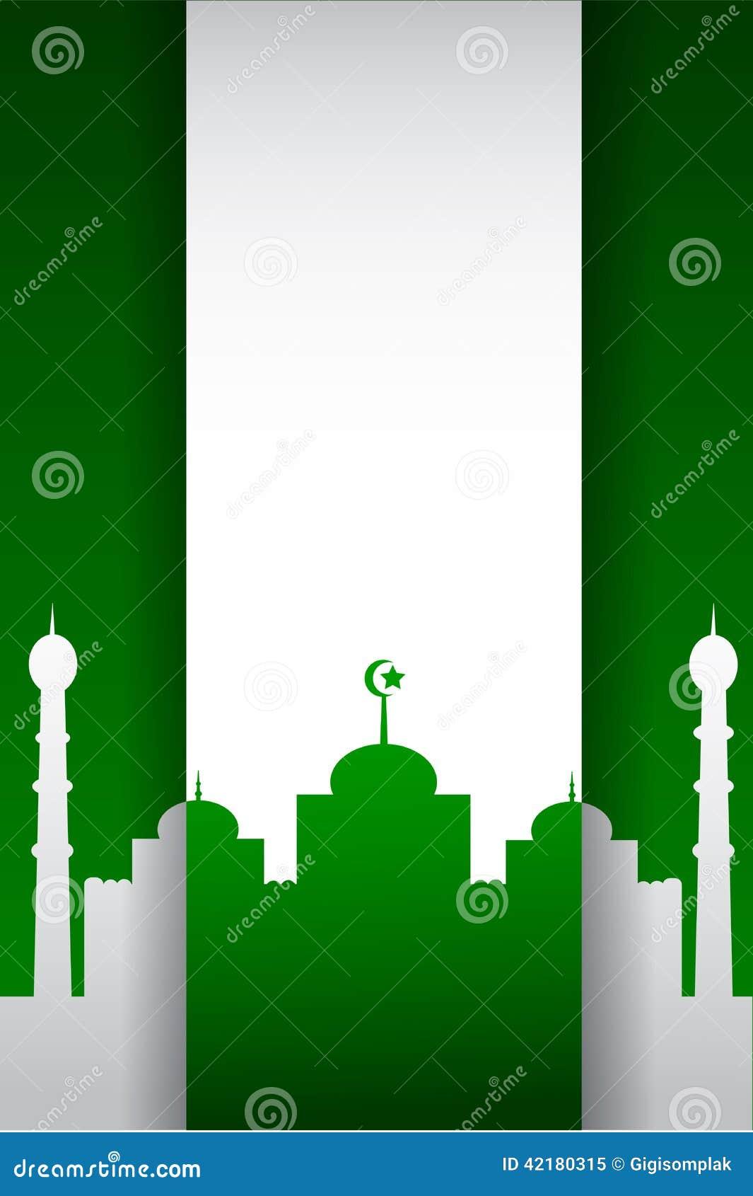Achtergrond - silhouet van moskee