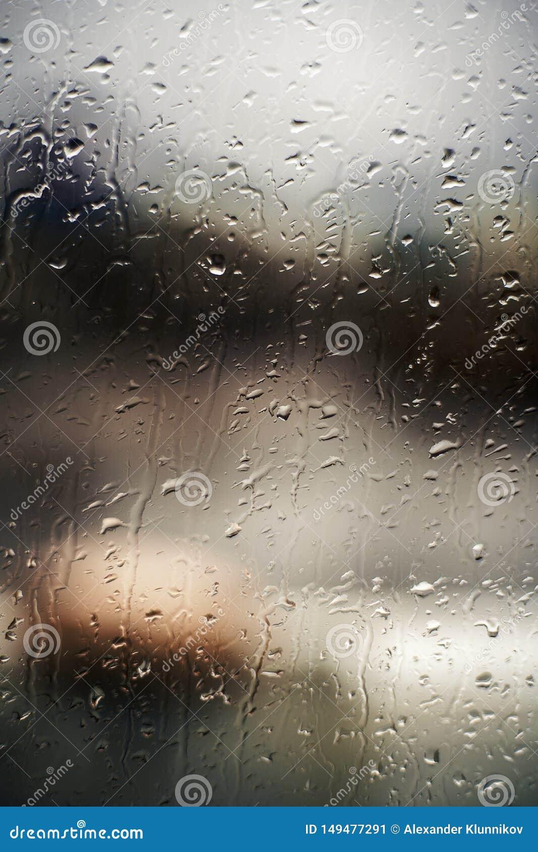 Achtergrond van dalingen op venster op de navigatiebrug Schipverblijf in de haven