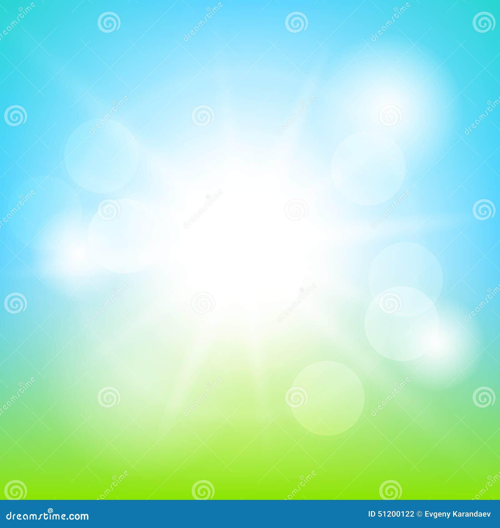 Achtergrond van de aard de zonnige abstracte zomer