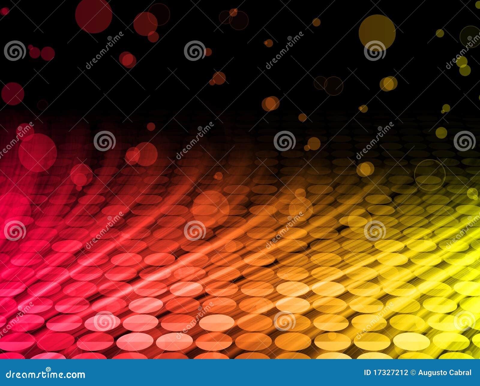 Achtergrond van de Golven van de disco de Abstracte Kleurrijke