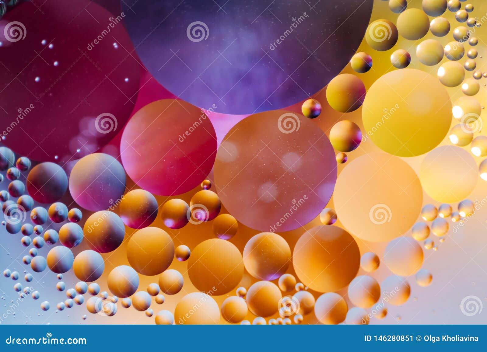 Achtergrond van de spectaculaire de ?Kosmos in de vorm van multicolored cirkels