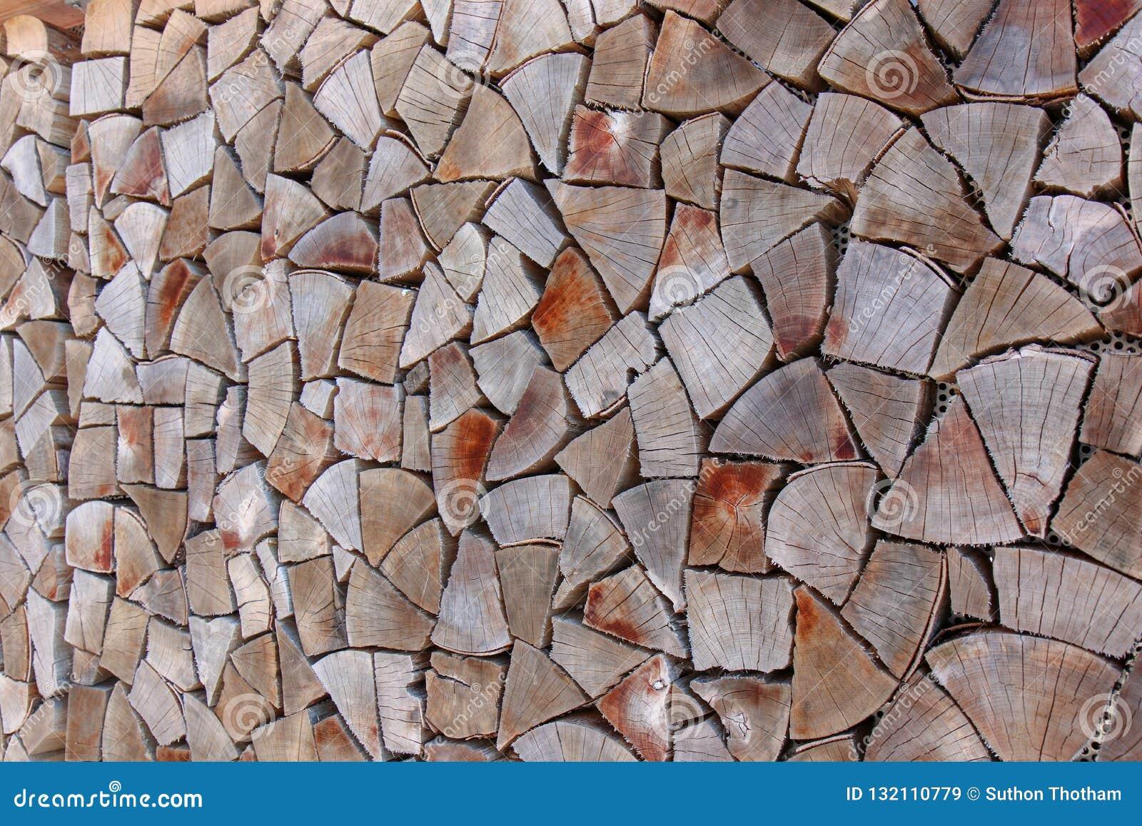 Achtergrond van de vierkante einden van de houten bars