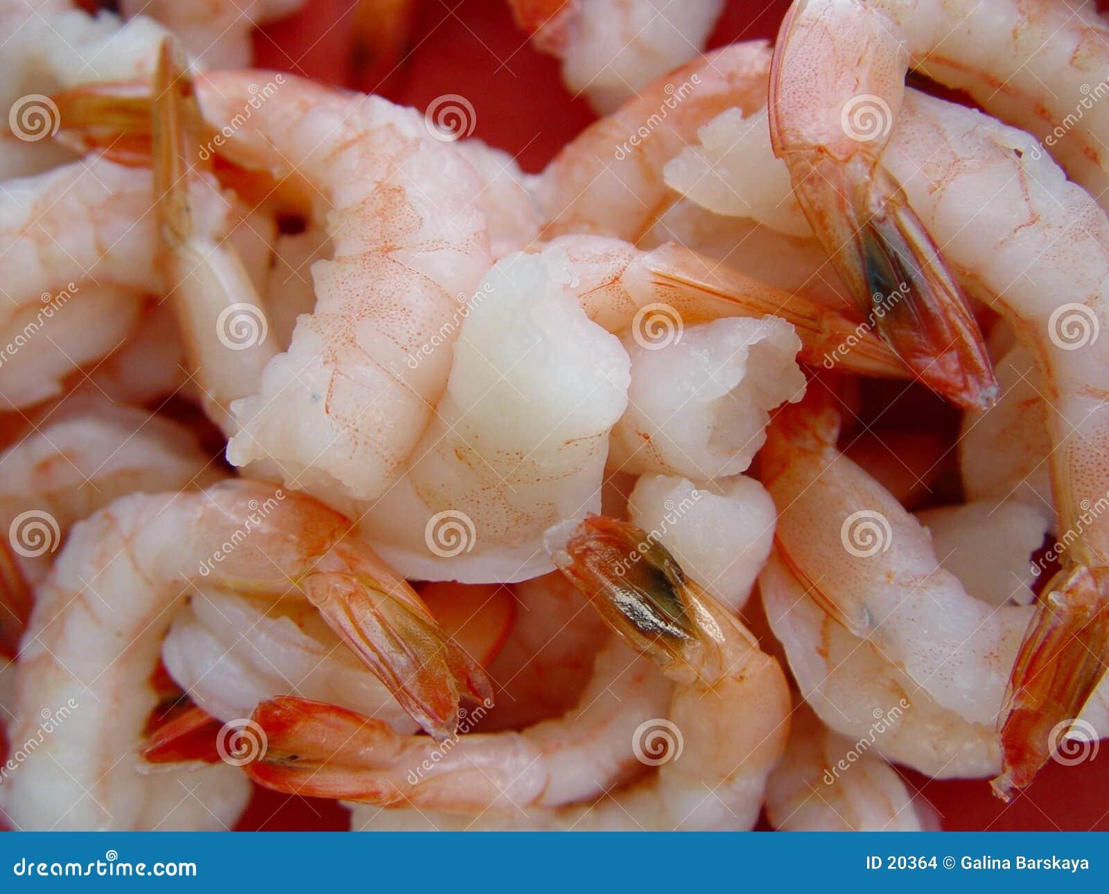 Achtergrond van gekookte garnalen