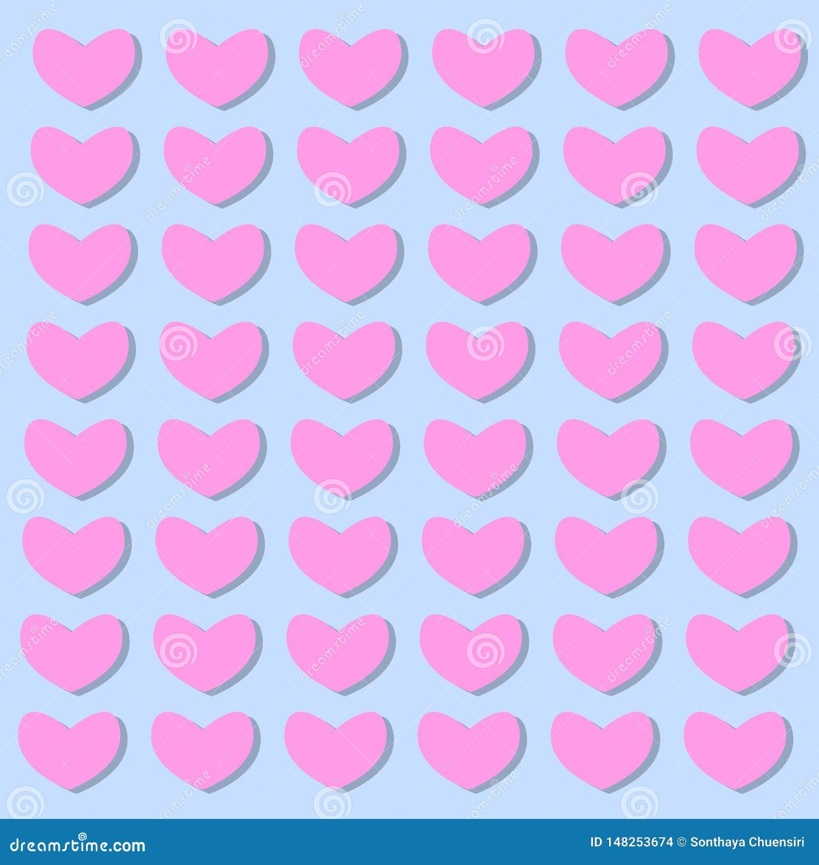 Achtergrond van harten in de vectorillustraties van de valentijnskaartdag