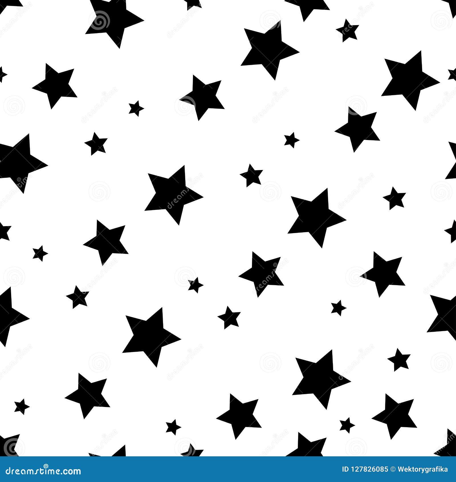 Achtergrond van het ster de naadloze patroon, het zwarte ontwerp van het sterbehang