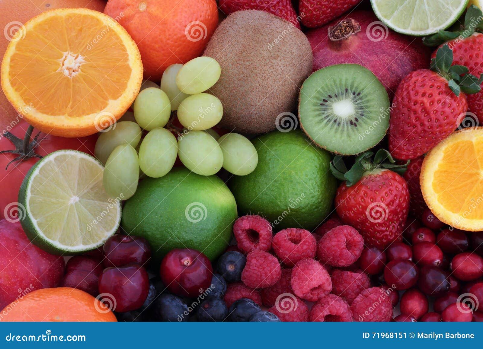 Achtergrond van het vers Fruit de Super Voedsel