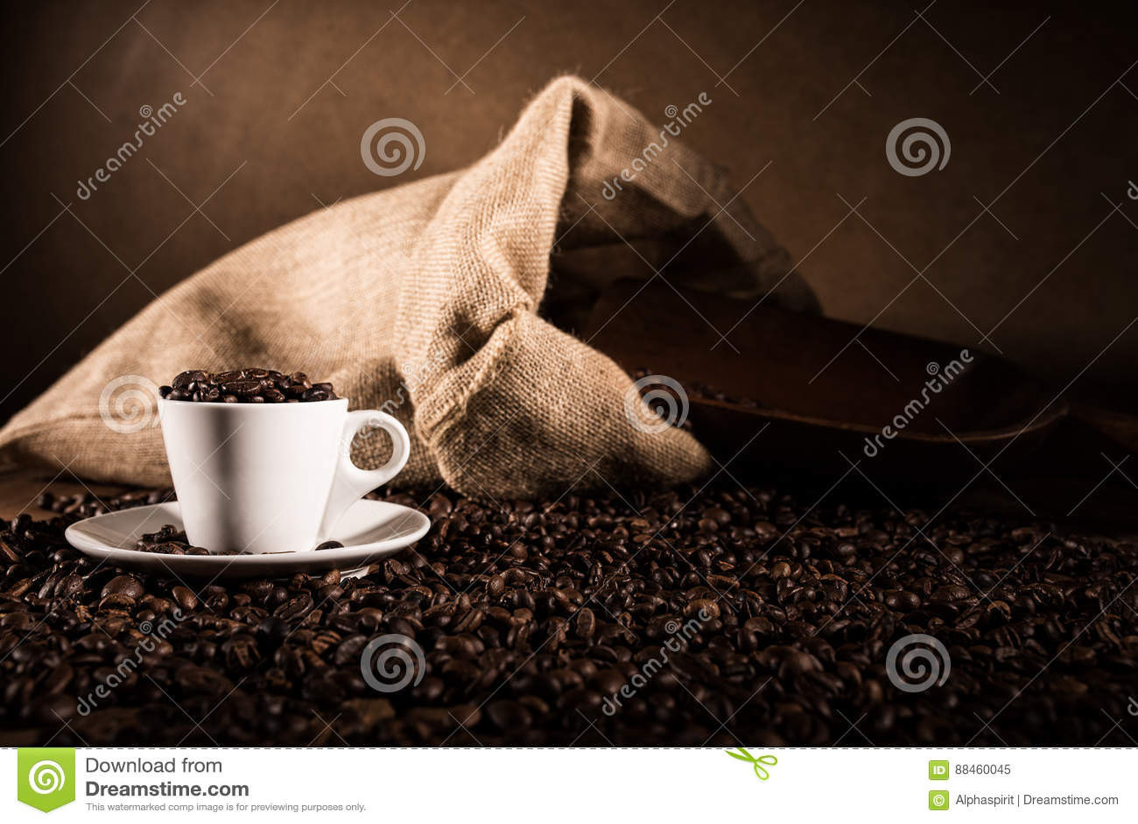 Achtergrond van kop koffiebonen