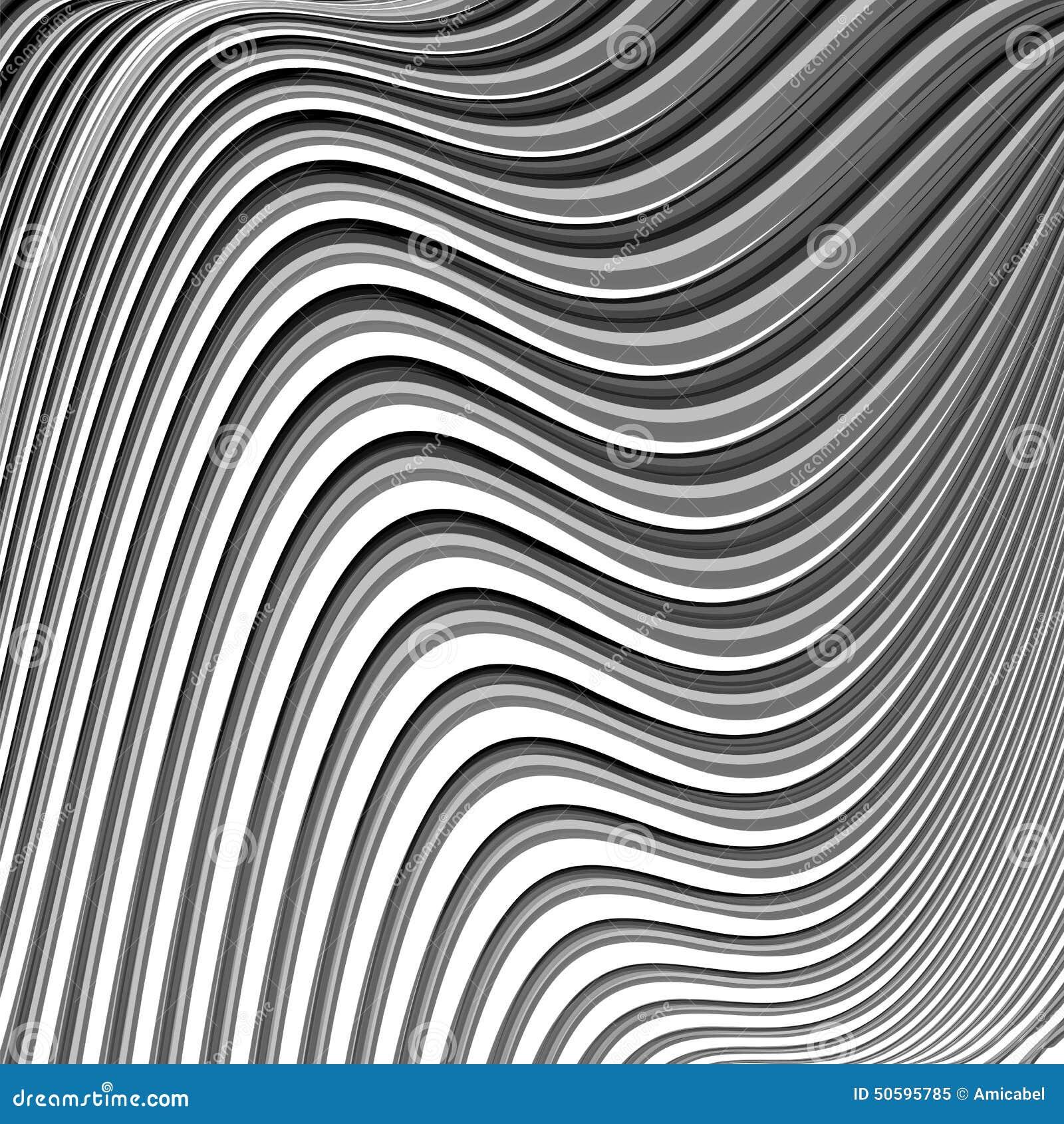 Achtergrond van ontwerp de zwart wit parallelle golvende lijnen stock illustratie afbeelding - Separateur van stuk ontwerp ...