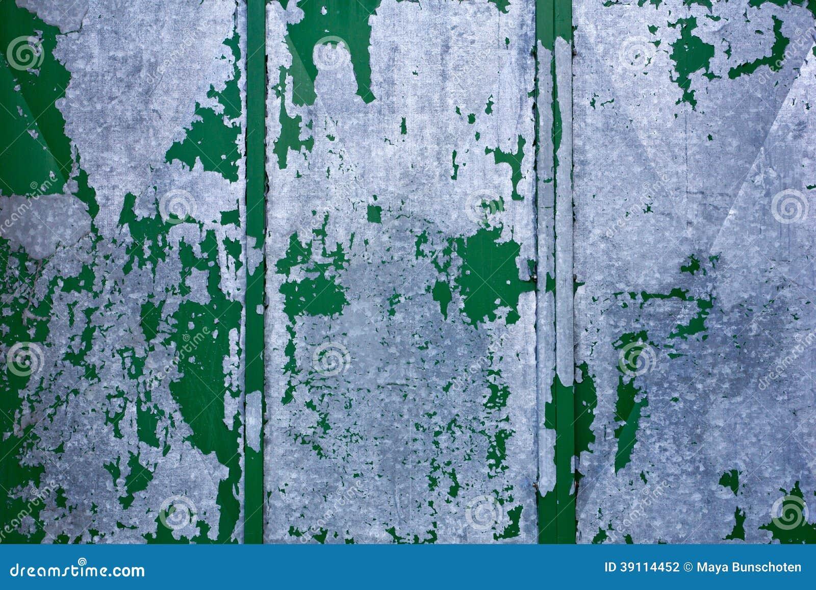 Achtergrond van oud groen grijs metaal