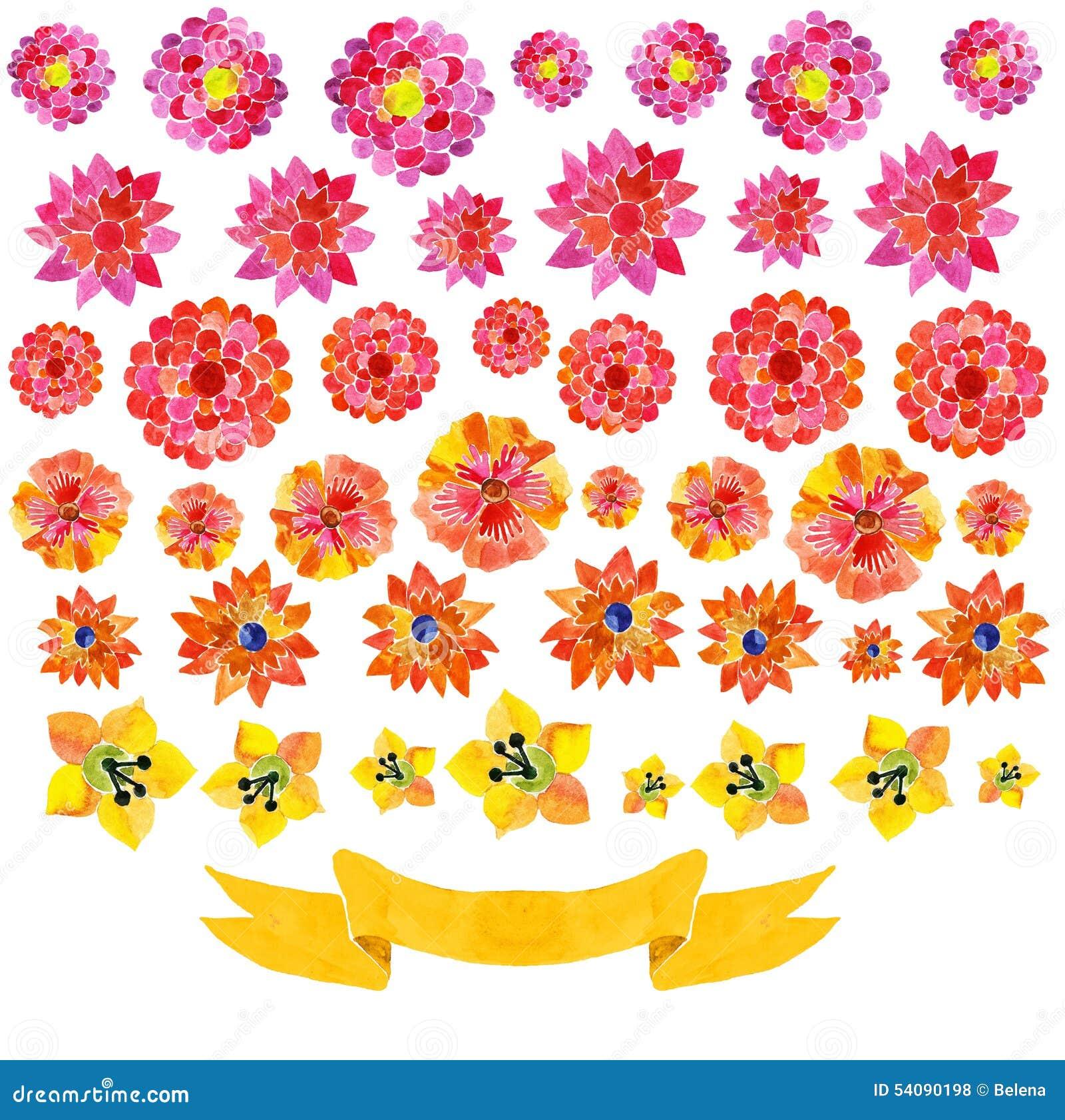 Achtergrond van waterverfbloemen