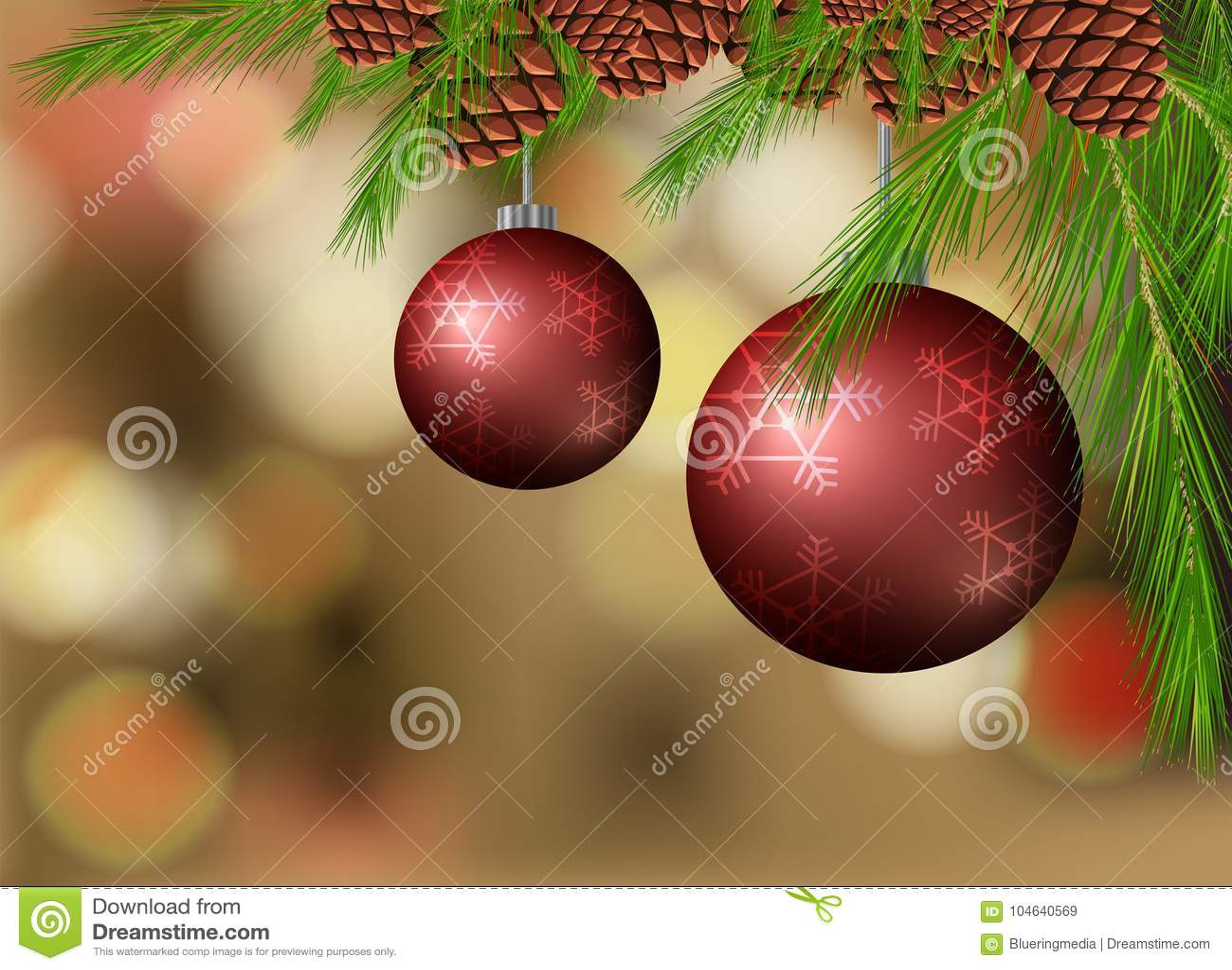 Download Achtergrondmalplaatje Met Ballen En Pinecone Vector Illustratie - Illustratie bestaande uit ornament, thema: 104640569