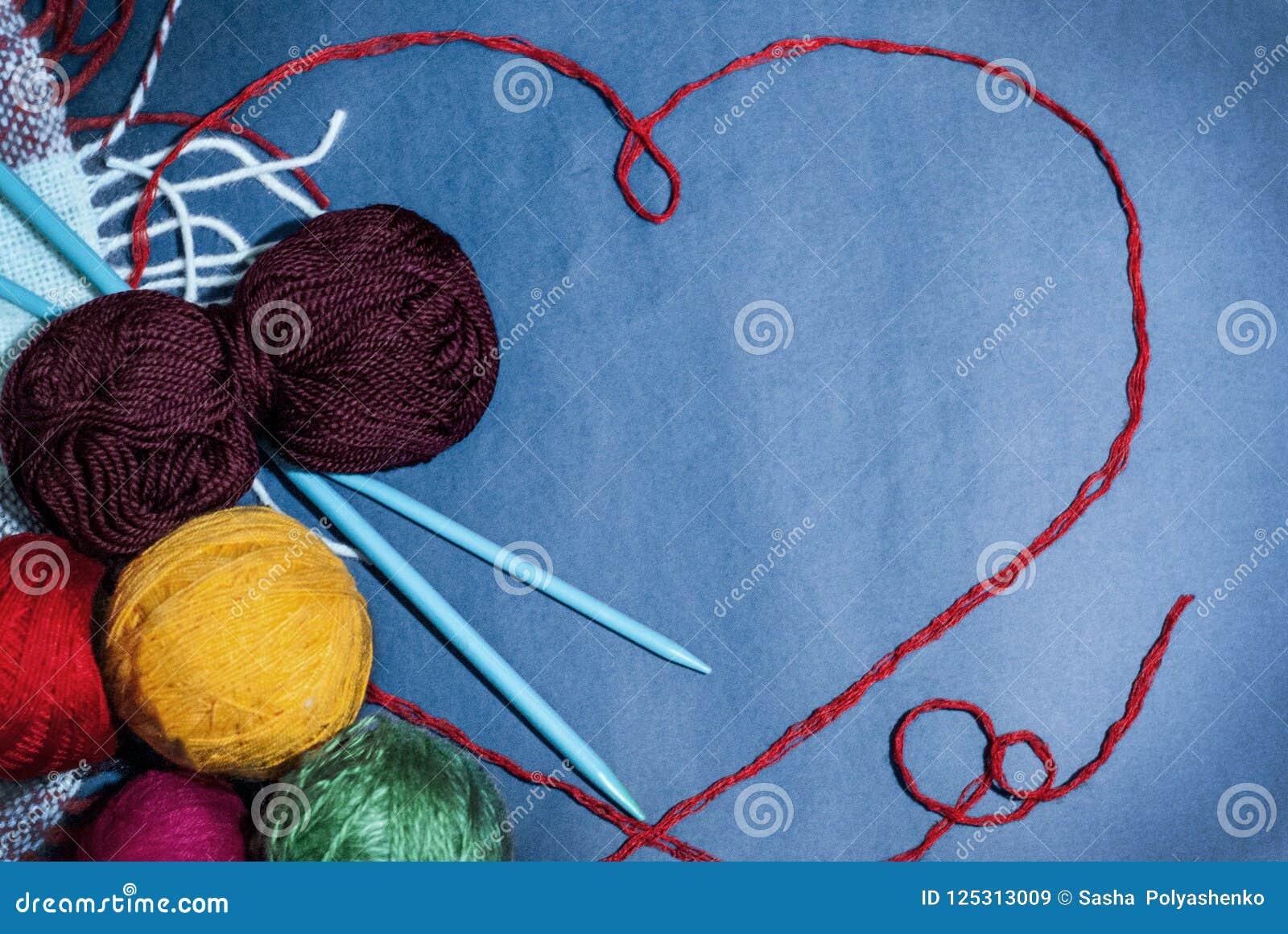 Achtergrondontwerp en kaarten, met de hand gemaakt, het breien, hart en liefde, gelukkige grootoudersdag, moedersdag