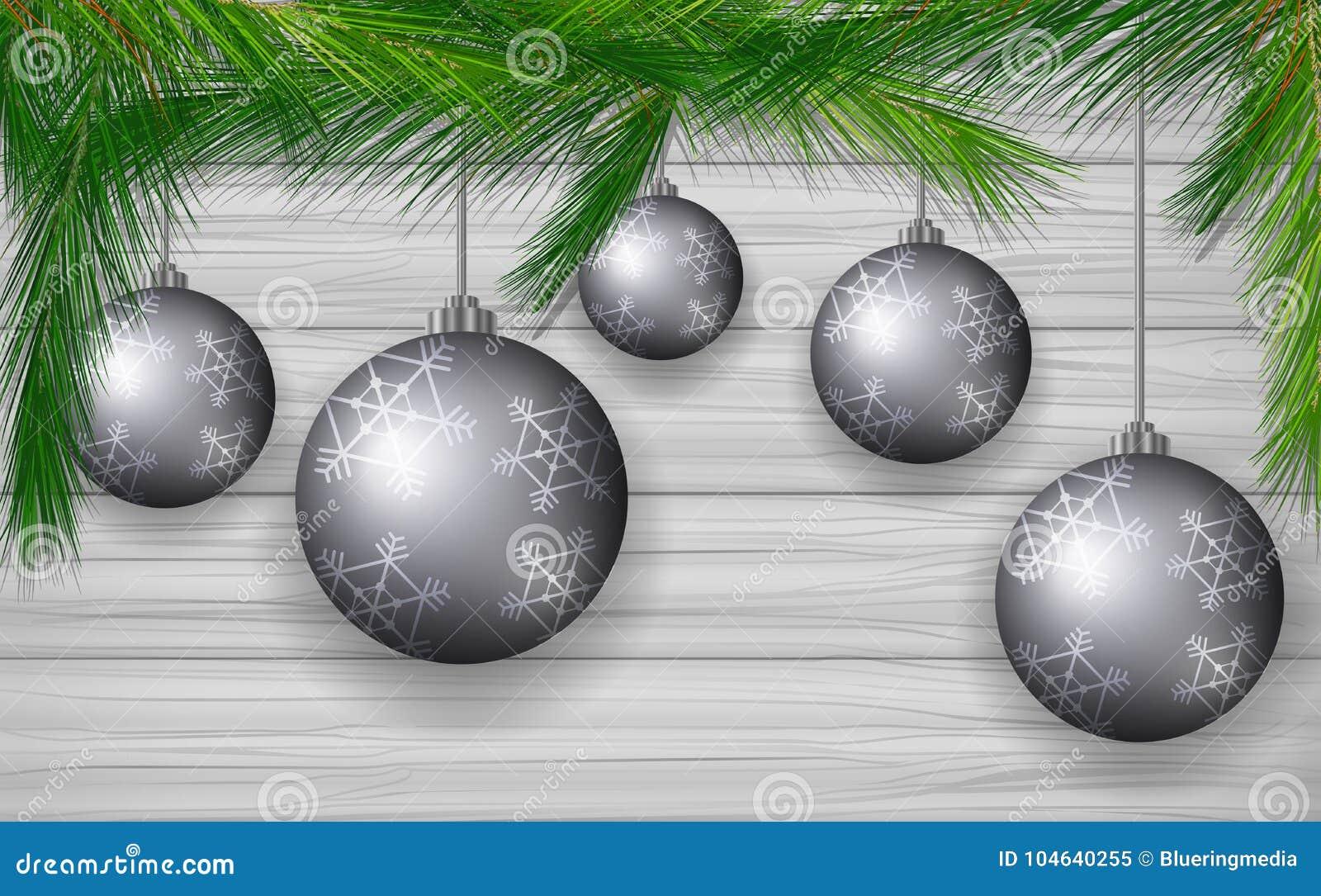 Download Achtergrondontwerp Met Grijze Kerstmisballen Vector Illustratie - Illustratie bestaande uit ornament, grafisch: 104640255