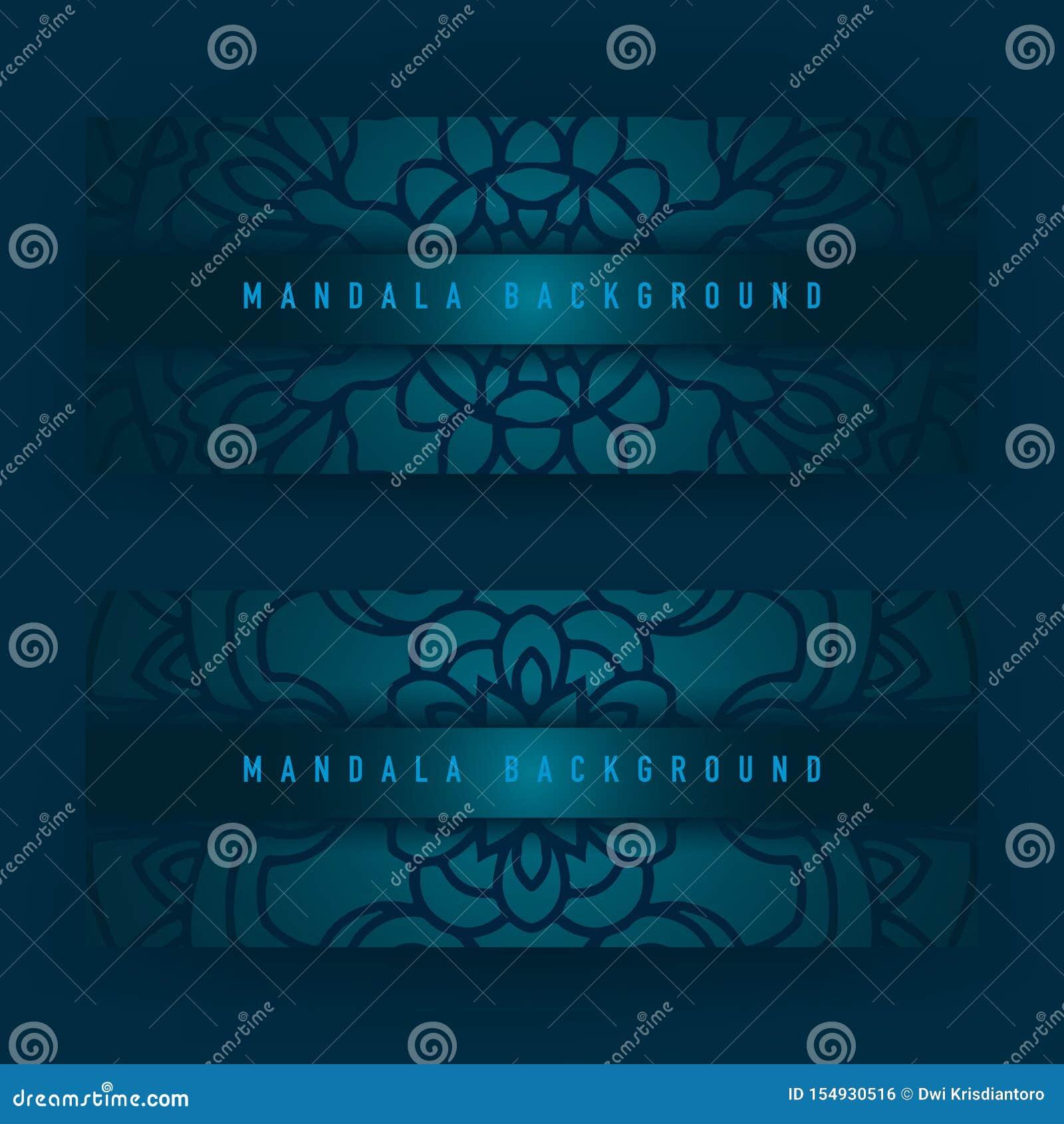 Achtergrondontwerp met mandala vectorornament Mandala etnische sier in achtergrondontwerp met kleurengradiënt