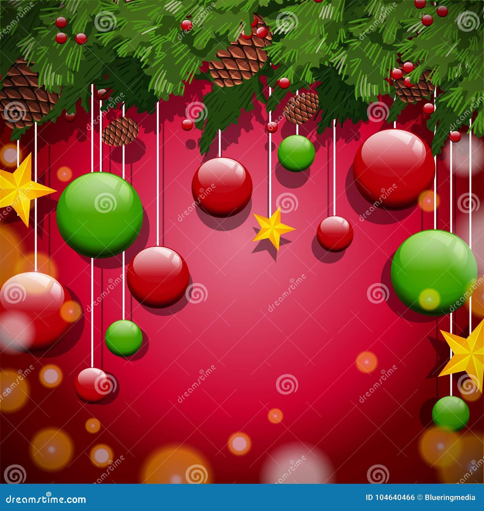 Download Achtergrondontwerp Met Ornamenten En Boom Vector Illustratie - Illustratie bestaande uit vakantie, klem: 104640466