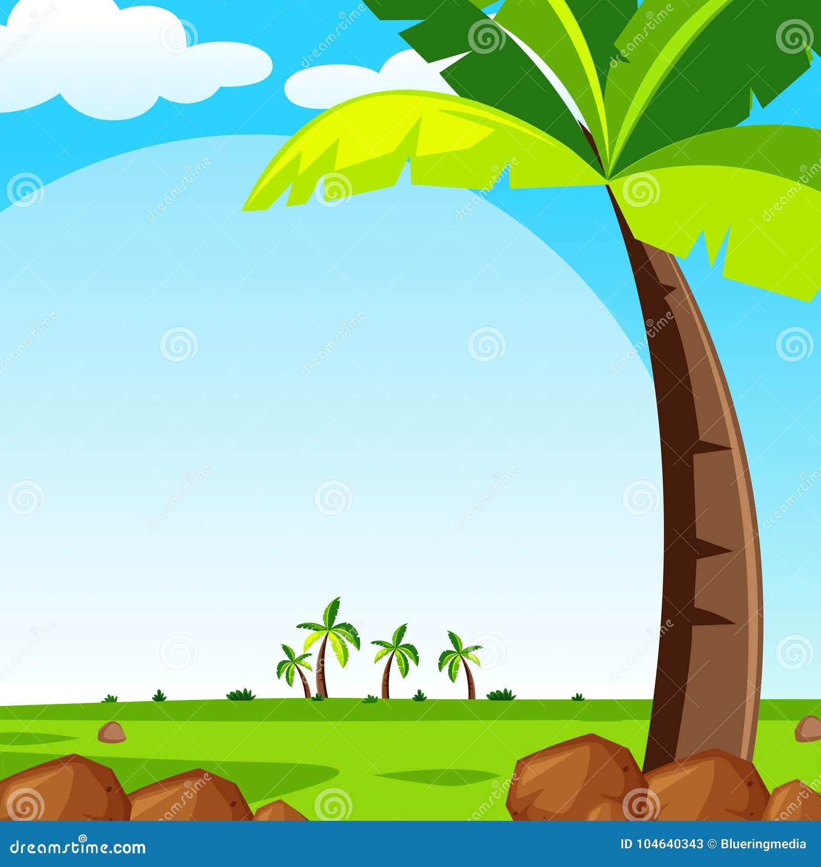 Download Achtergrondscène Met Groen Gazon Vector Illustratie - Illustratie bestaande uit hemel, gazon: 104640343