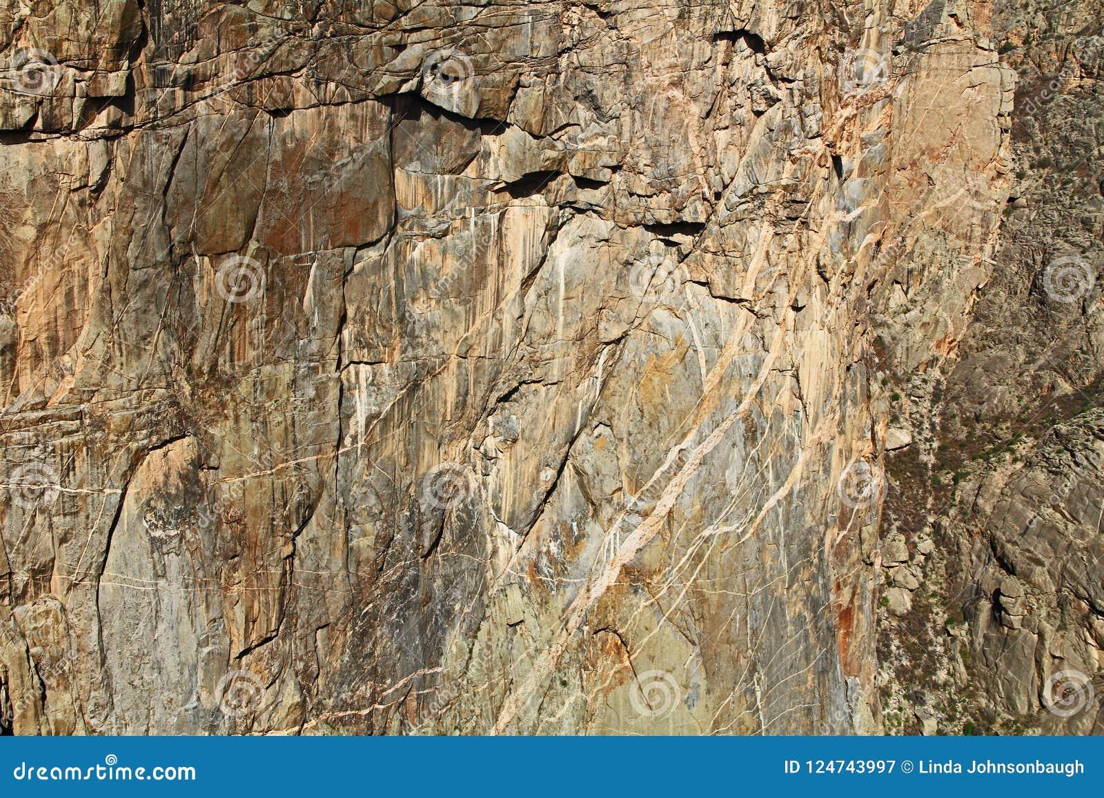 Achtergrondtextuur Zwarte Canion van Gunnison bij Kloofmening