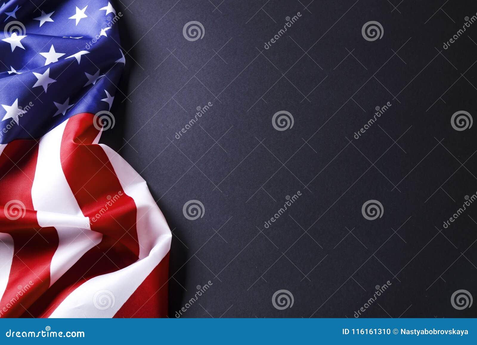 Achtergrondvlag van de Verenigde Staten van Amerika voor nationale federale vakantieviering en het rouwen herinneringsdag Het sym