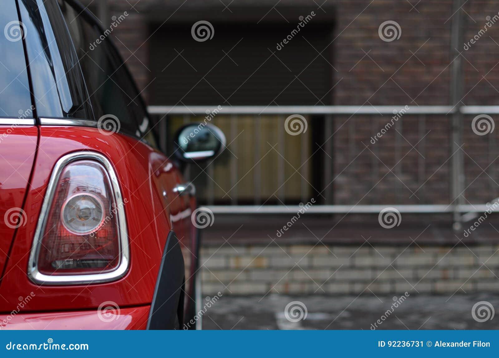 Achterlicht van rode auto